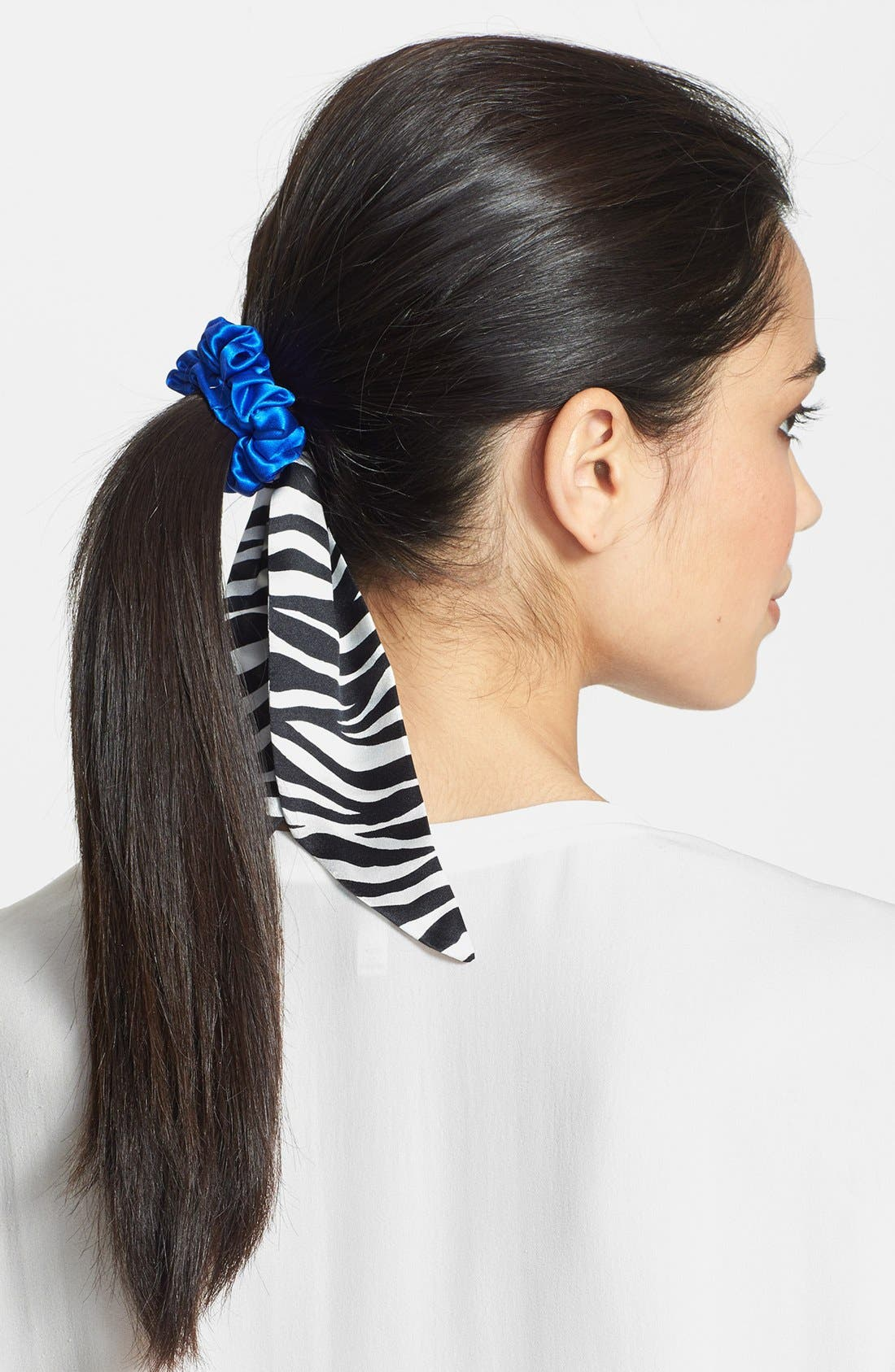 Alternate Image 1 Selected - L. Erickson Silk Sash Ponytail Holder
