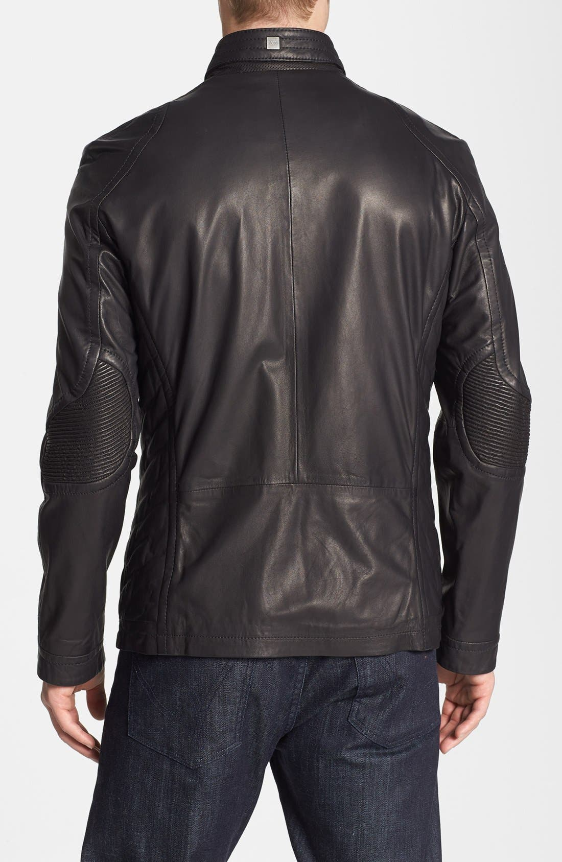 Alternate Image 2  - BOSS HUGO BOSS 'McLaren - Nivelles' Leather Jacket