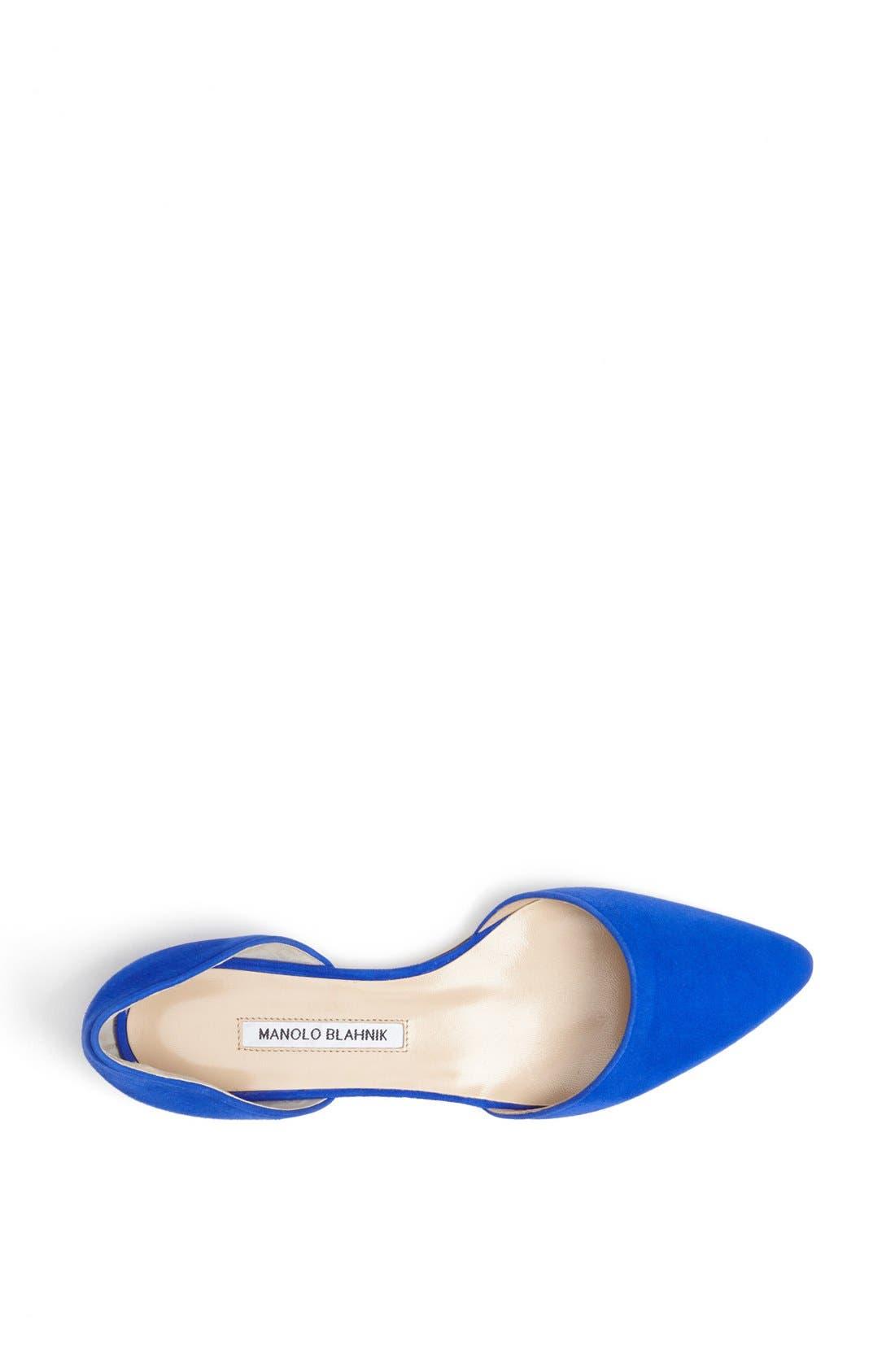 Alternate Image 3  - Manolo Blahnik 'Soussaba' Suede Pointed Toe Flat