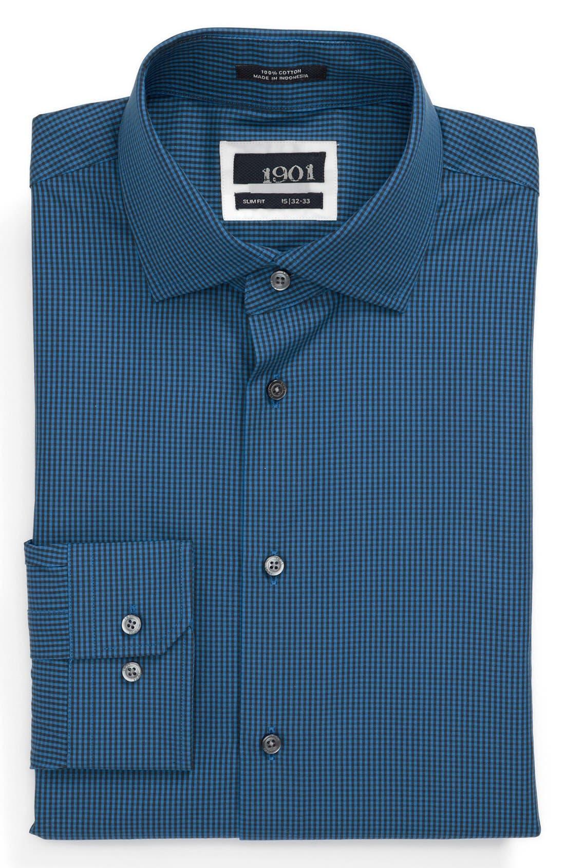 Alternate Image 1 Selected - 1901 Slim Fit Check Dress Shirt