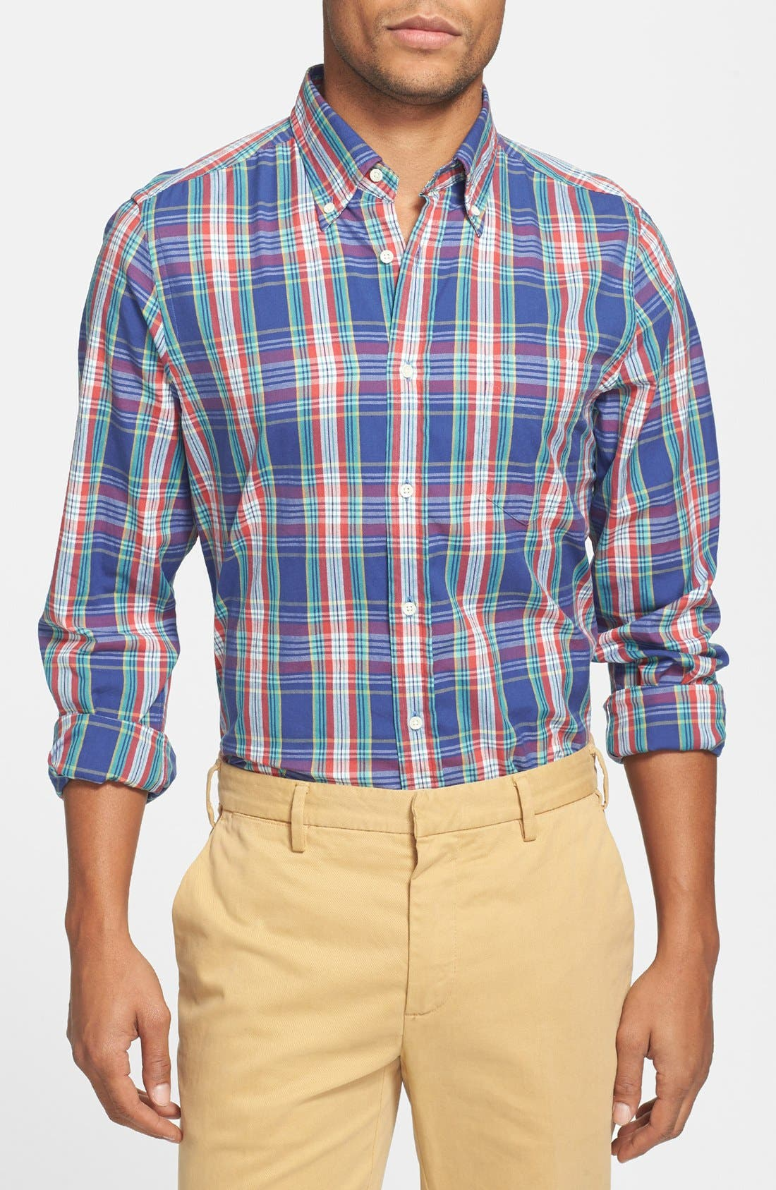 Alternate Image 1 Selected - Gant Rugger 'Dreamy' Plaid Oxford Shirt