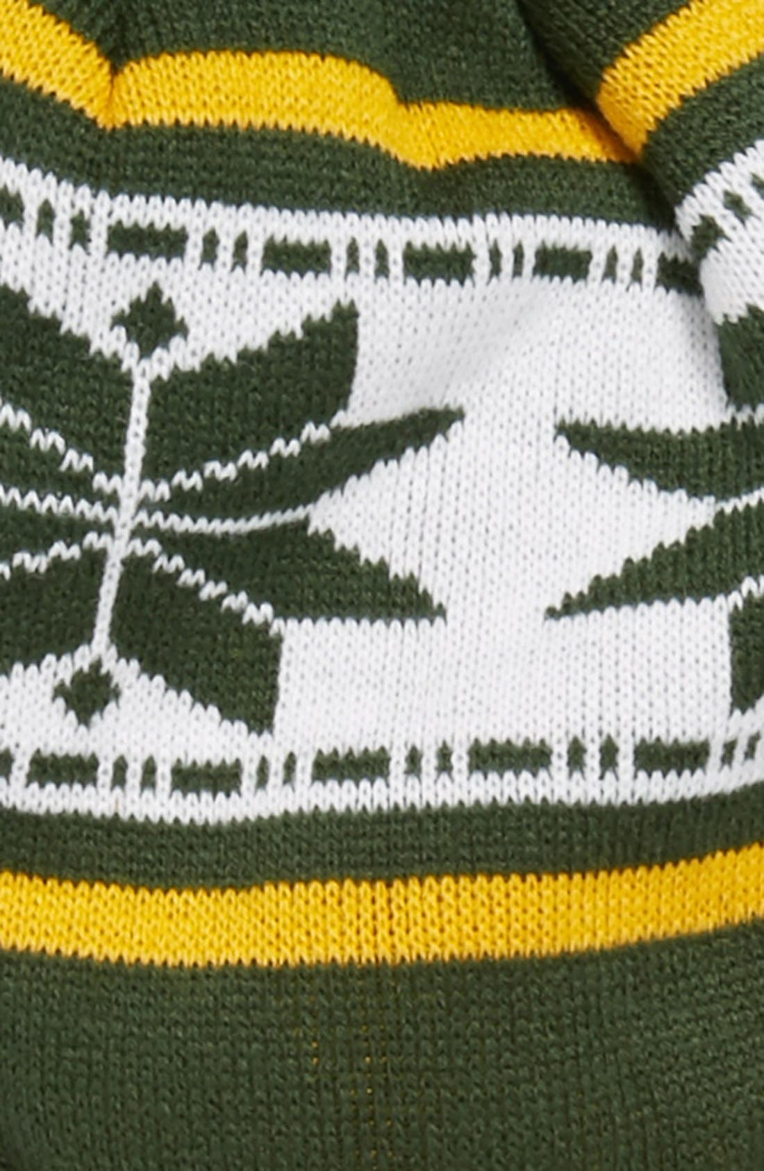 Alternate Image 2  - New Era Cap 'Green Bay Packers' Snowflake Tassel Hat