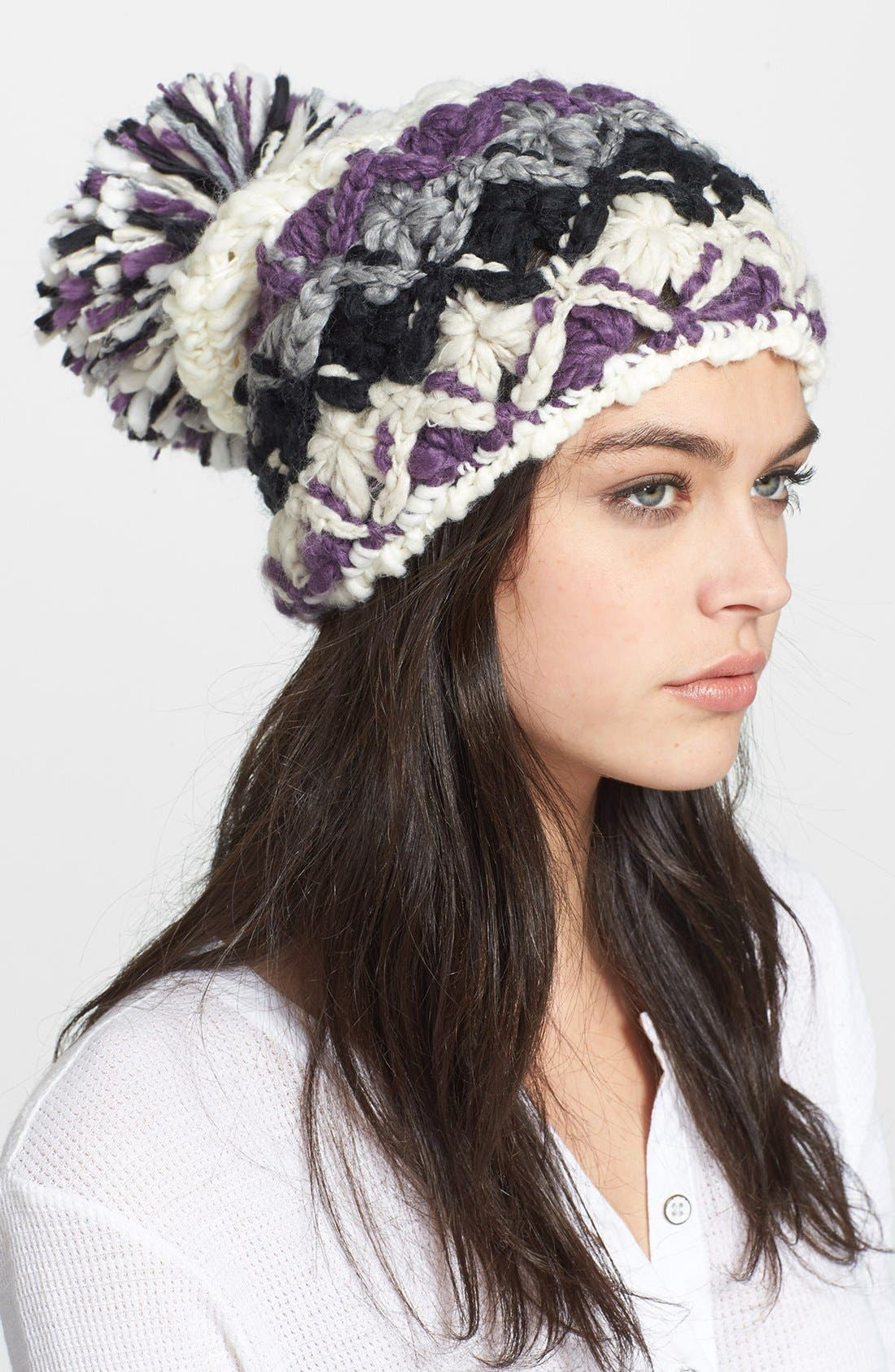 Alternate Image 1 Selected - Free People Pompom Beanie