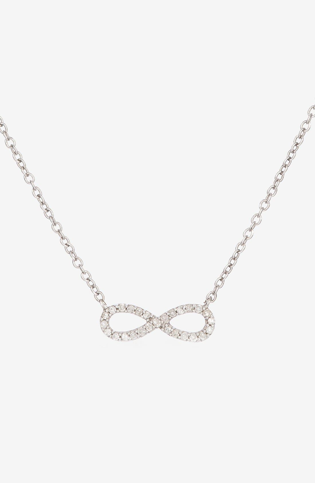 Alternate Image 1 Selected - Adina Reyter Pavé Diamond Infinity Symbol Pendant Necklace (Online Only)