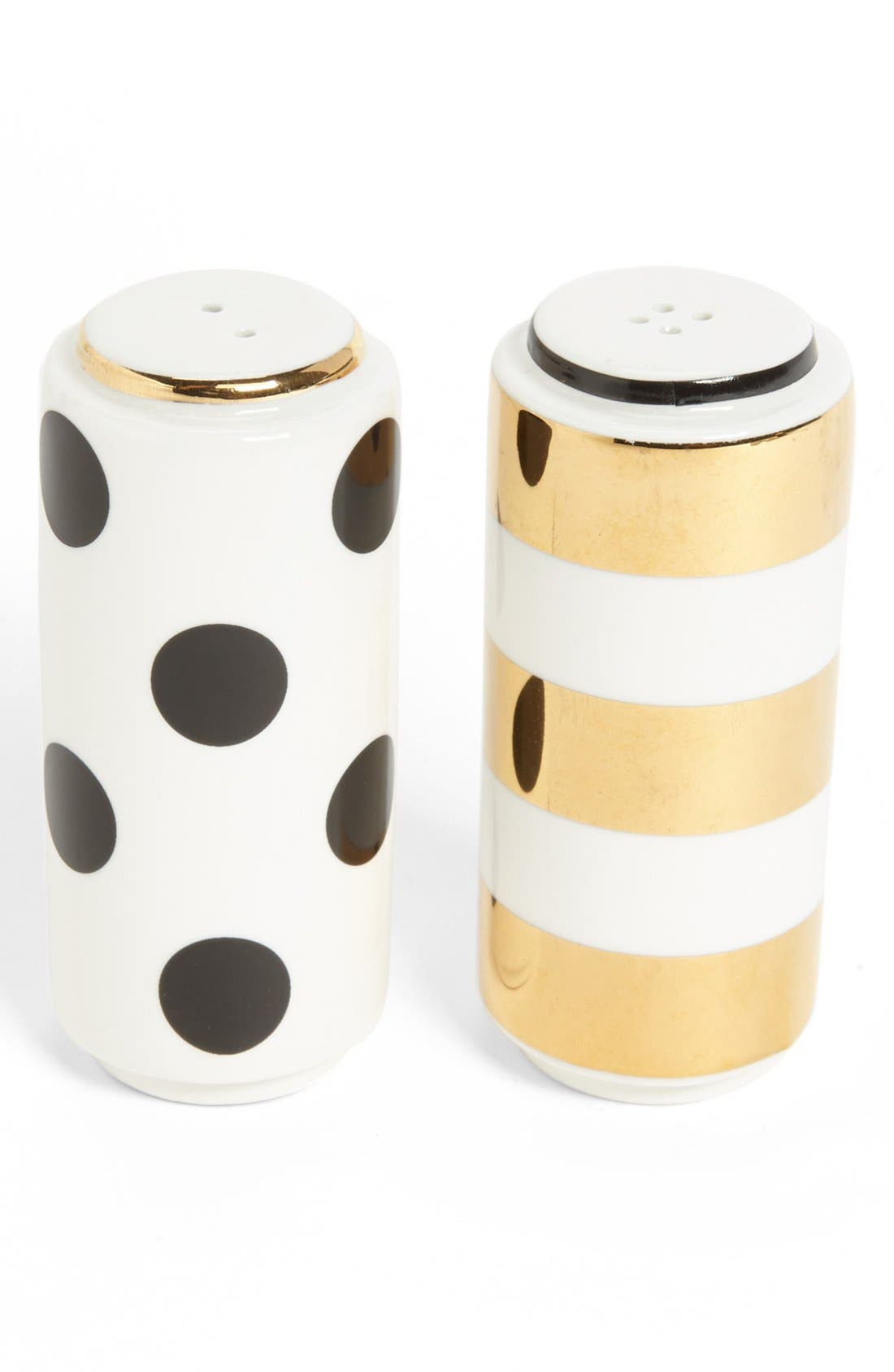 Main Image - kate spade new york 'fairmount park - dot stripe' salt & pepper set