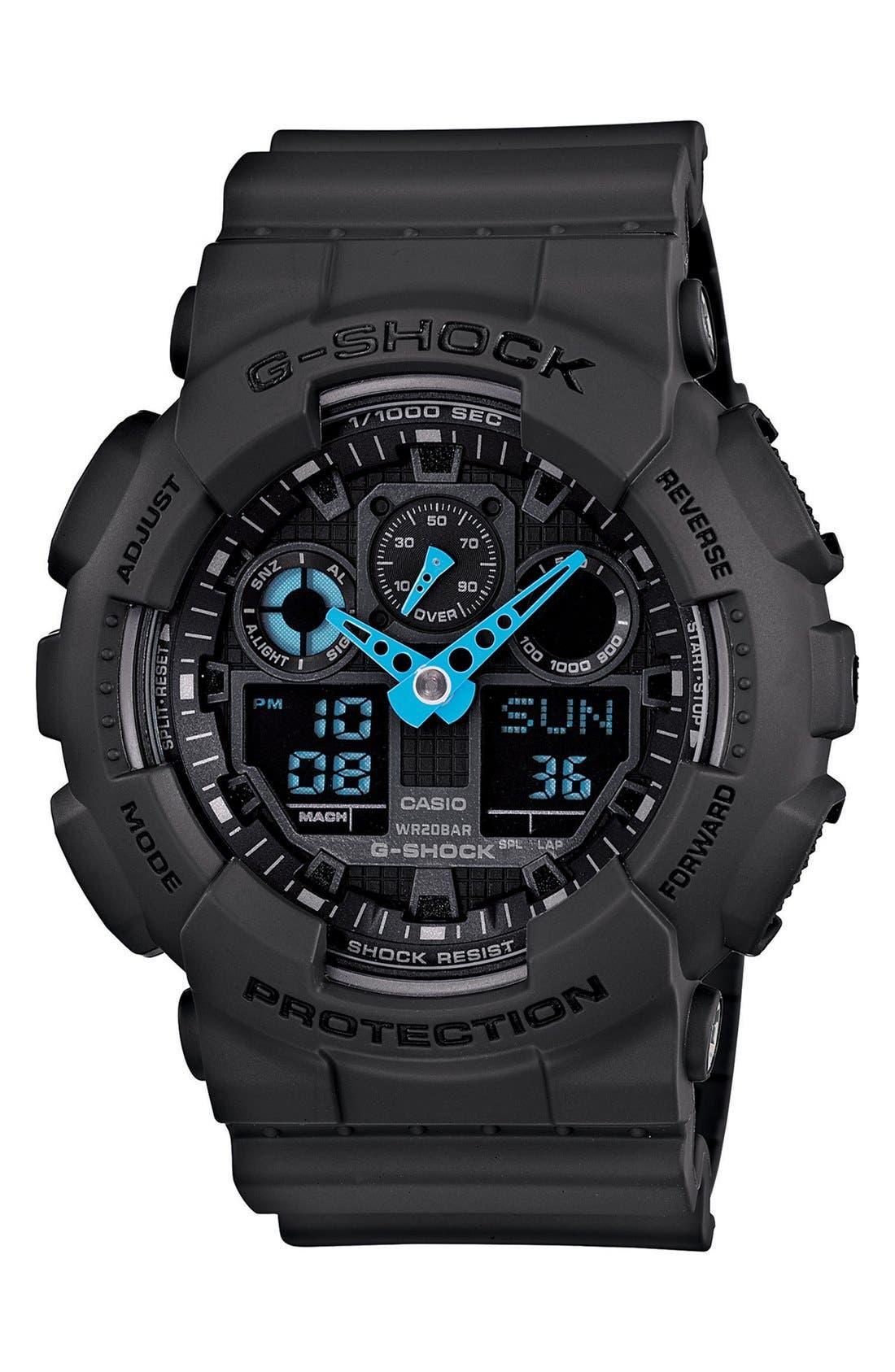Main Image - G-Shock 'Neon Highlights' Ana-Digi Watch, 55mm