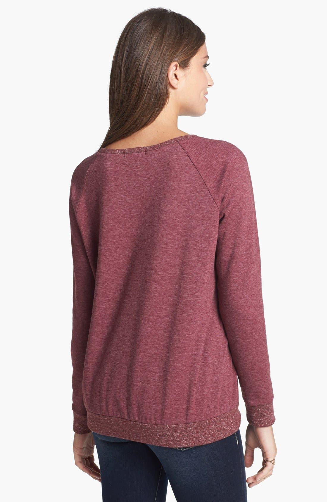 Alternate Image 2  - Elodie 'Floral 23' Sweatshirt (Juniors)