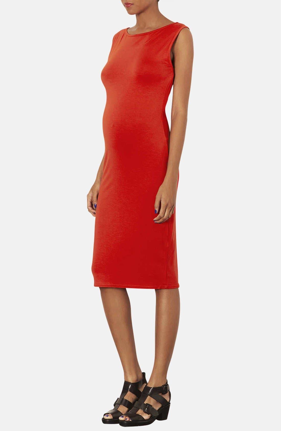 Alternate Image 3  - Topshop Jersey Body-Con Maternity Dress