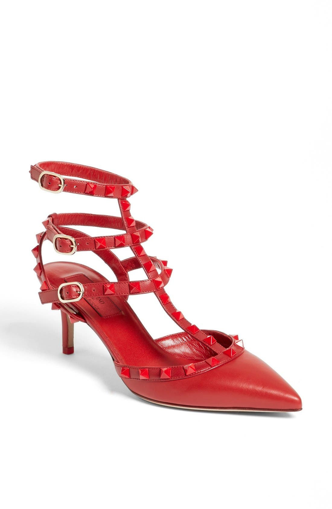 Alternate Image 1 Selected - Valentino 'Rockstud' Triple Ankle Strap Pump