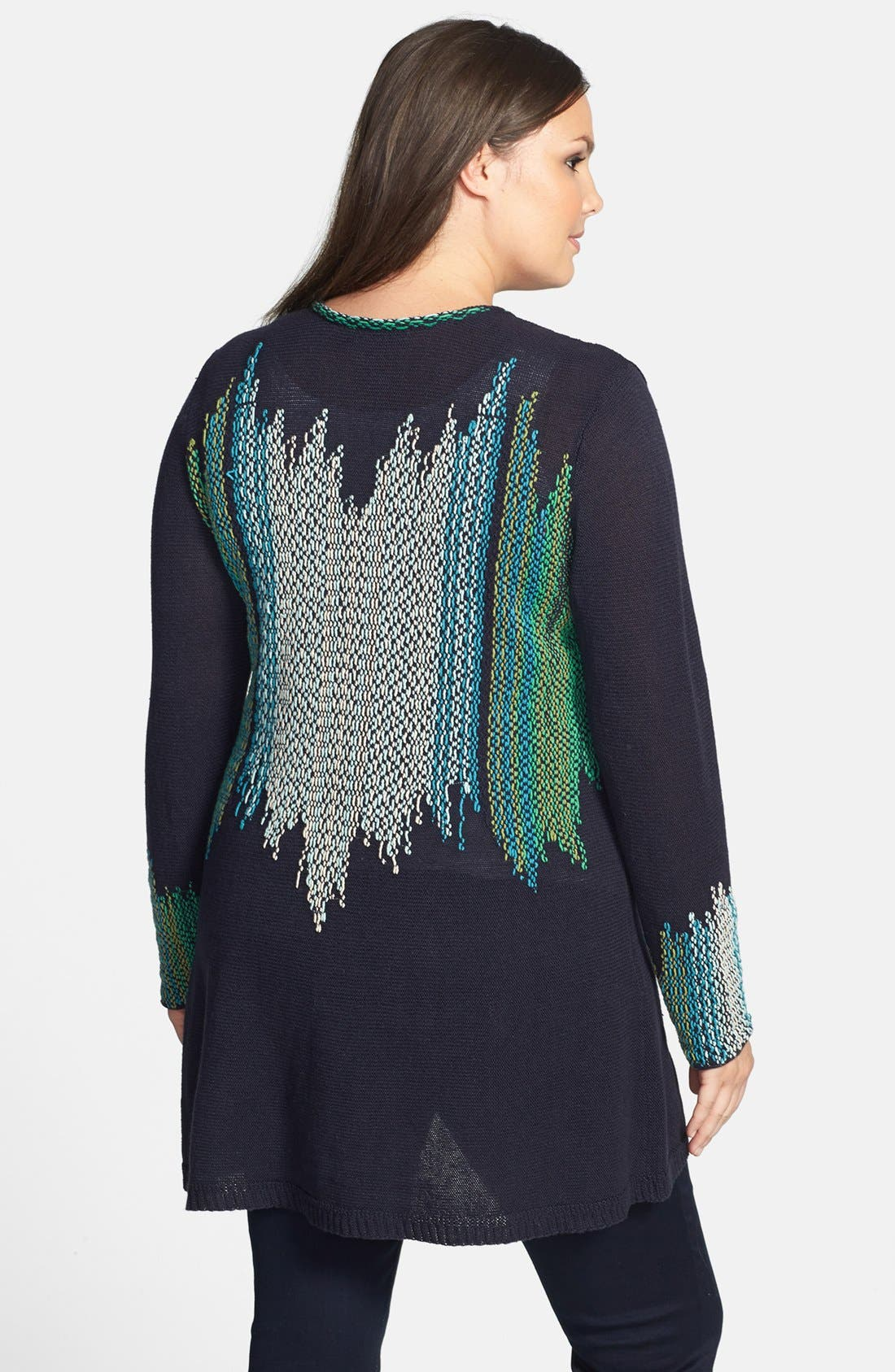 Alternate Image 2  - NIC+ZOE 'Color Weave' Cardigan (Plus Size)