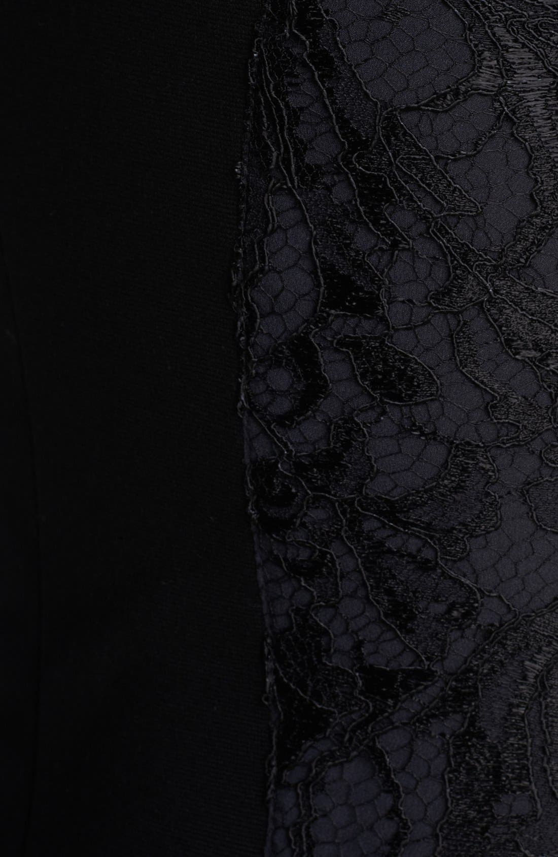 Alternate Image 3  - Emilio Pucci Lace Shoulder Punto Milano Dress