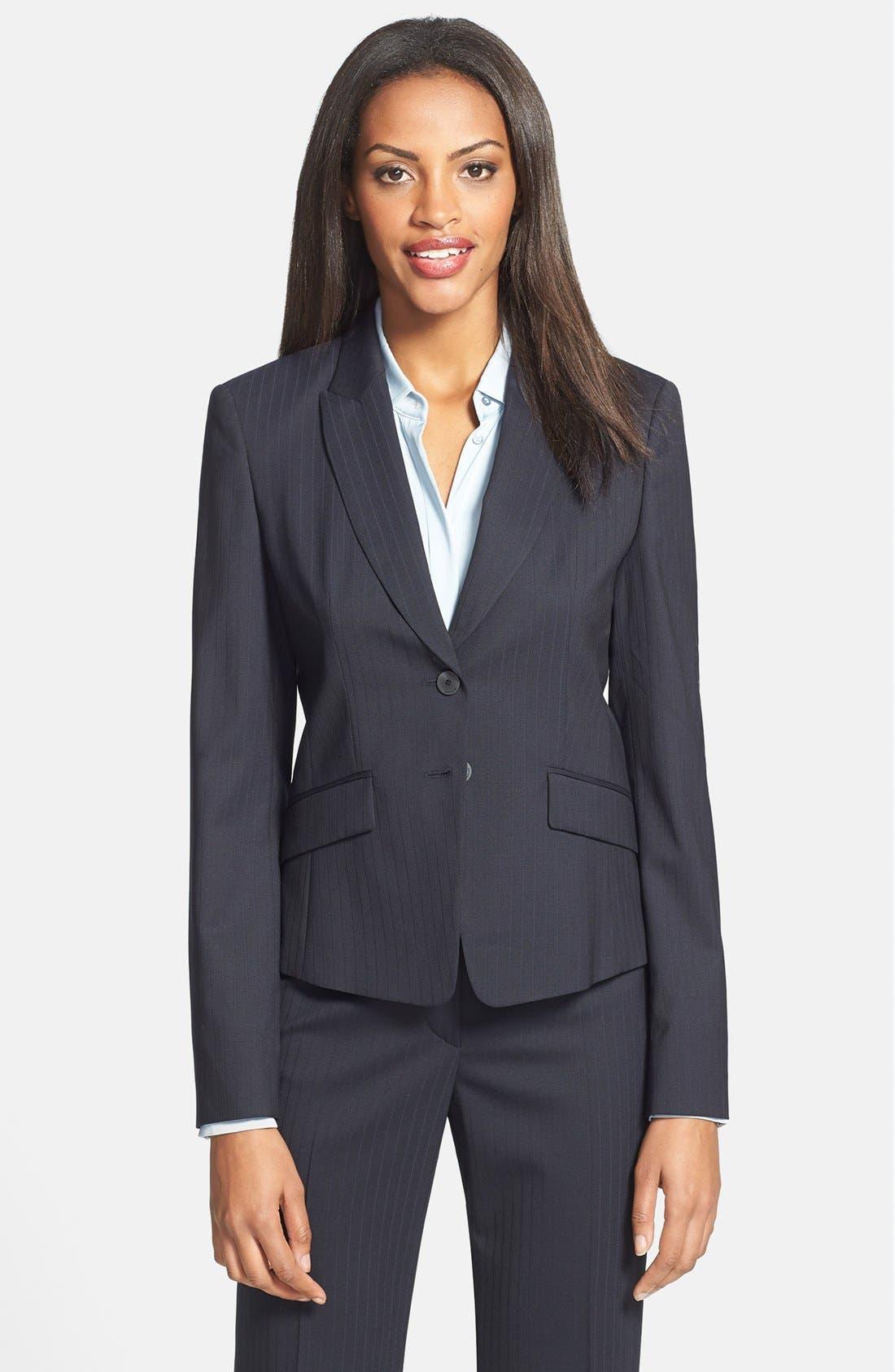 Alternate Image 1 Selected - BOSS HUGO BOSS 'Juljanella 1' Two-Button Pinstripe Jacket