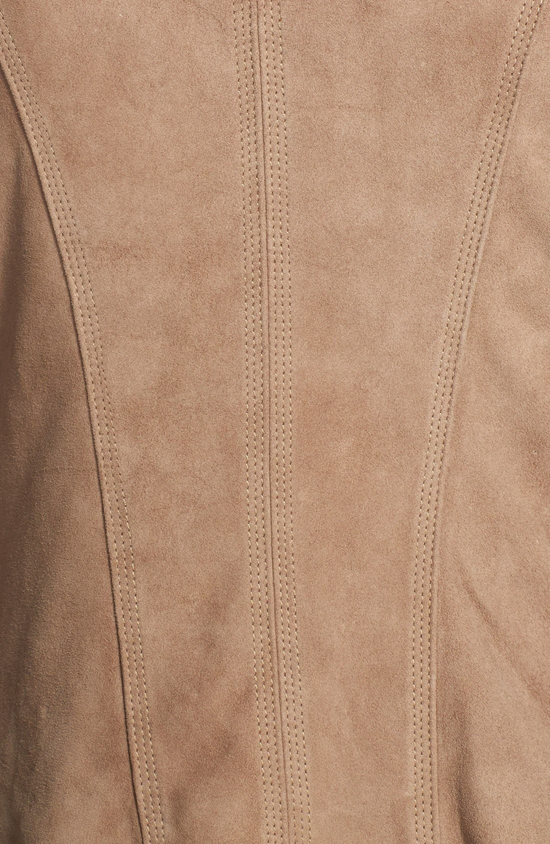 Alternate Image 3  - Blanc Noir Suede Moto Jacket (Online Only)