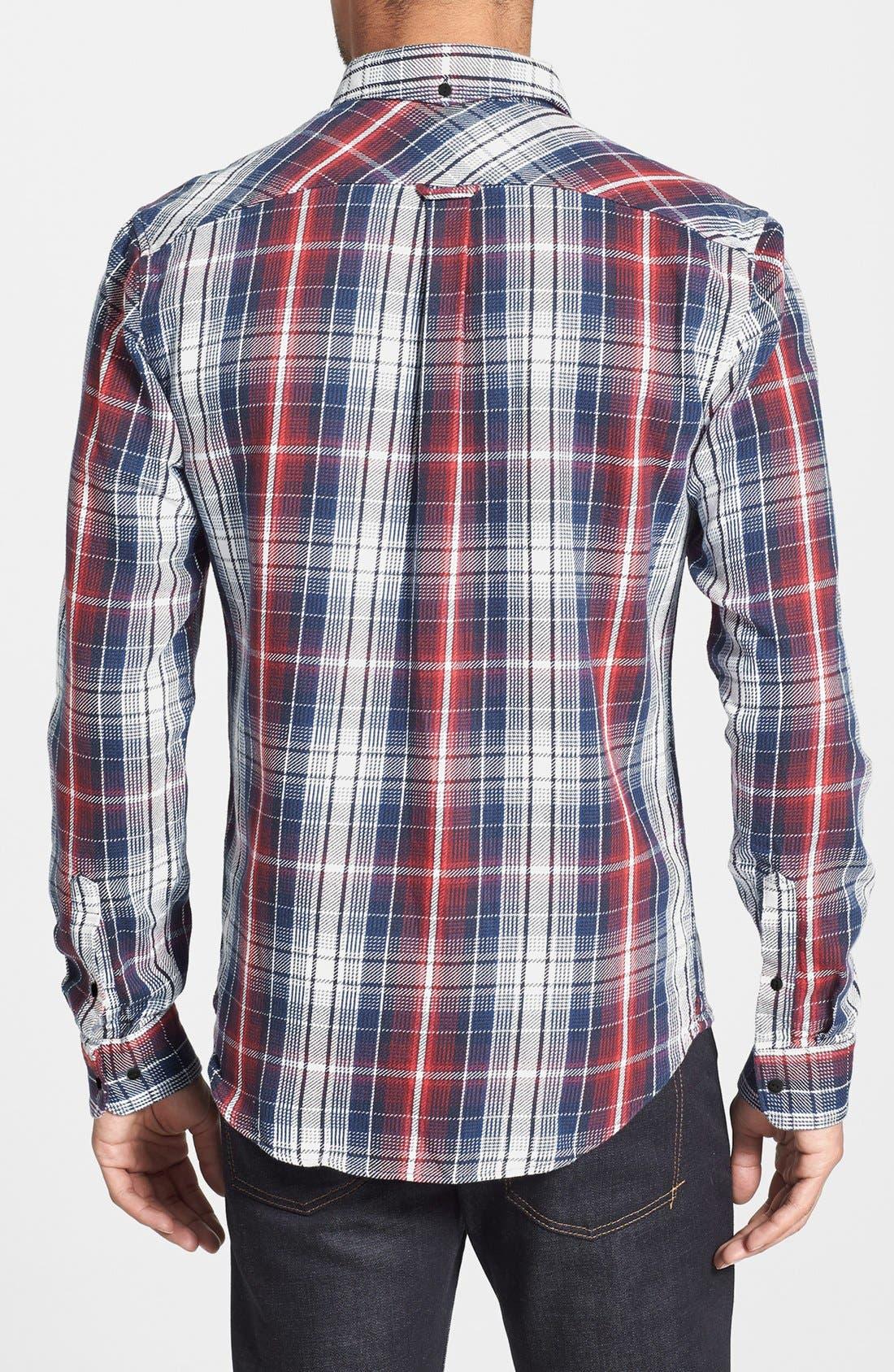 Alternate Image 2  - Lacoste L!VE Plaid Twill Shirt