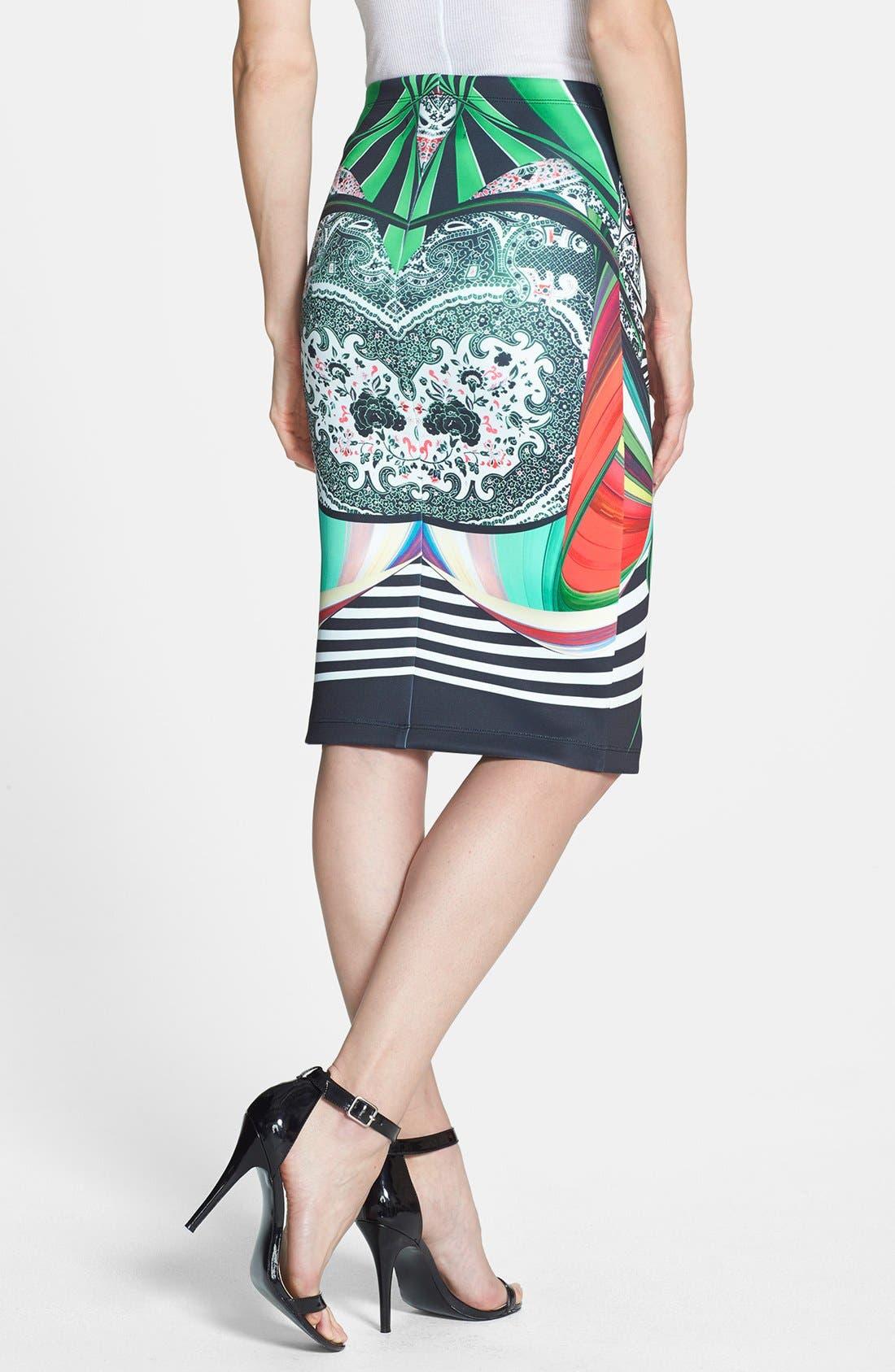 Alternate Image 2  - Clover Canyon 'Swirl Scarf' Pencil Skirt