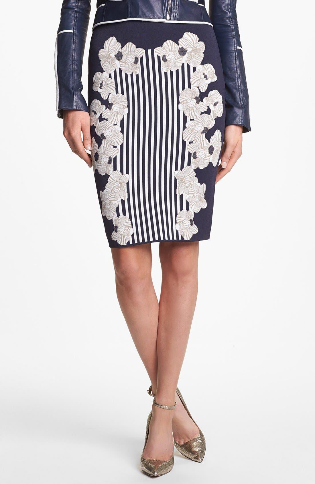 Main Image - Diane von Furstenberg 'Kacee' Print Twill Pencil Skirt