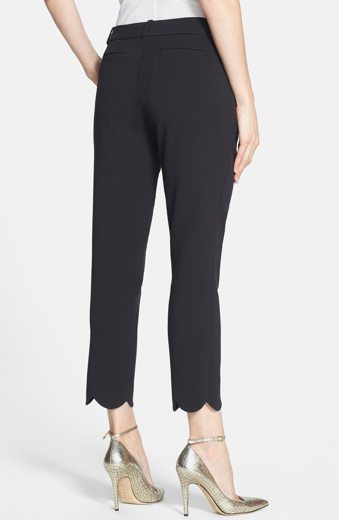 Alternate Image 2  - kate spade new york 'jackie' scalloped hem capri pants