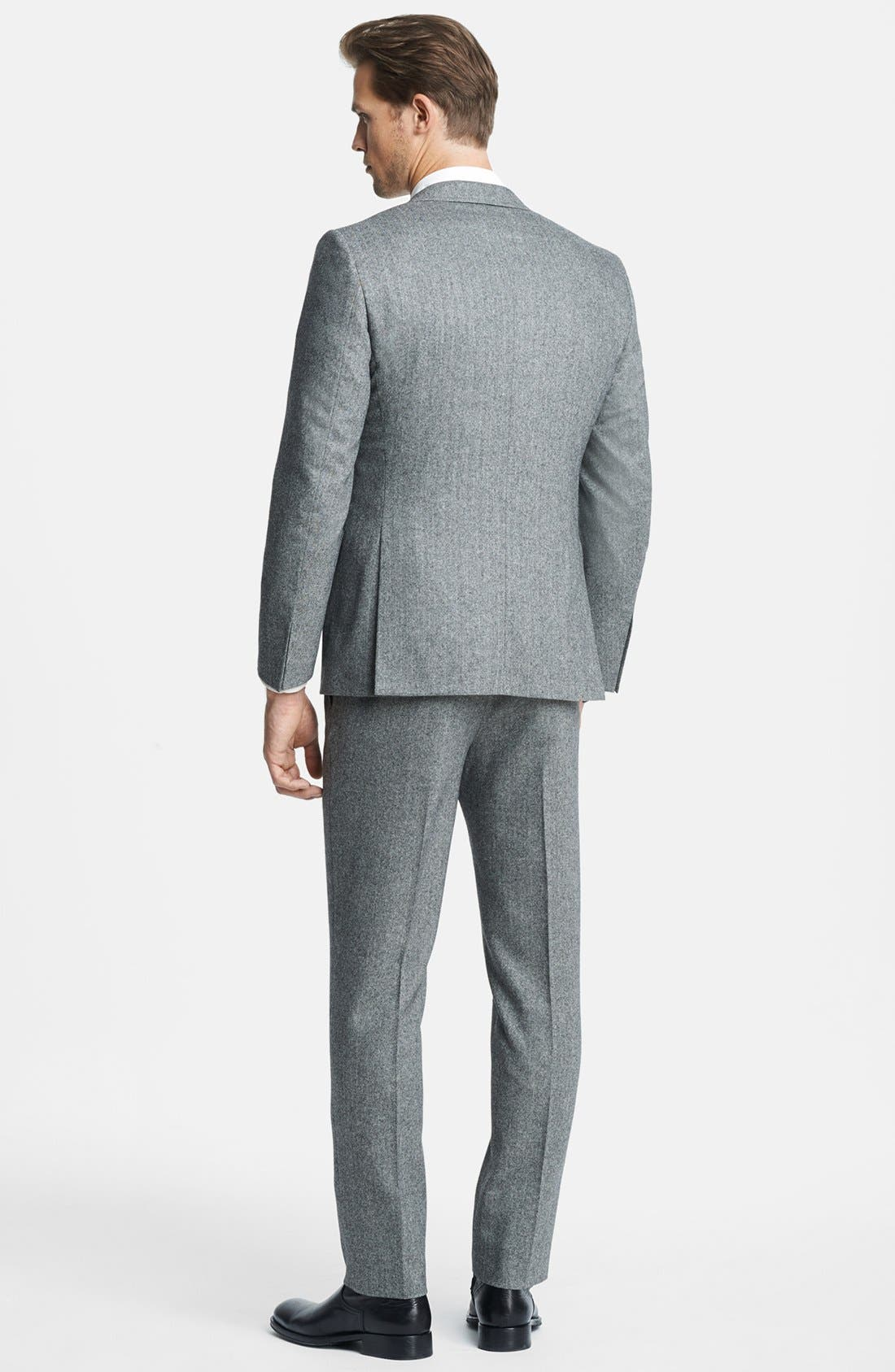 Alternate Image 3  - Billy Reid 'Ellerman' Herringbone Wool Blend Suit