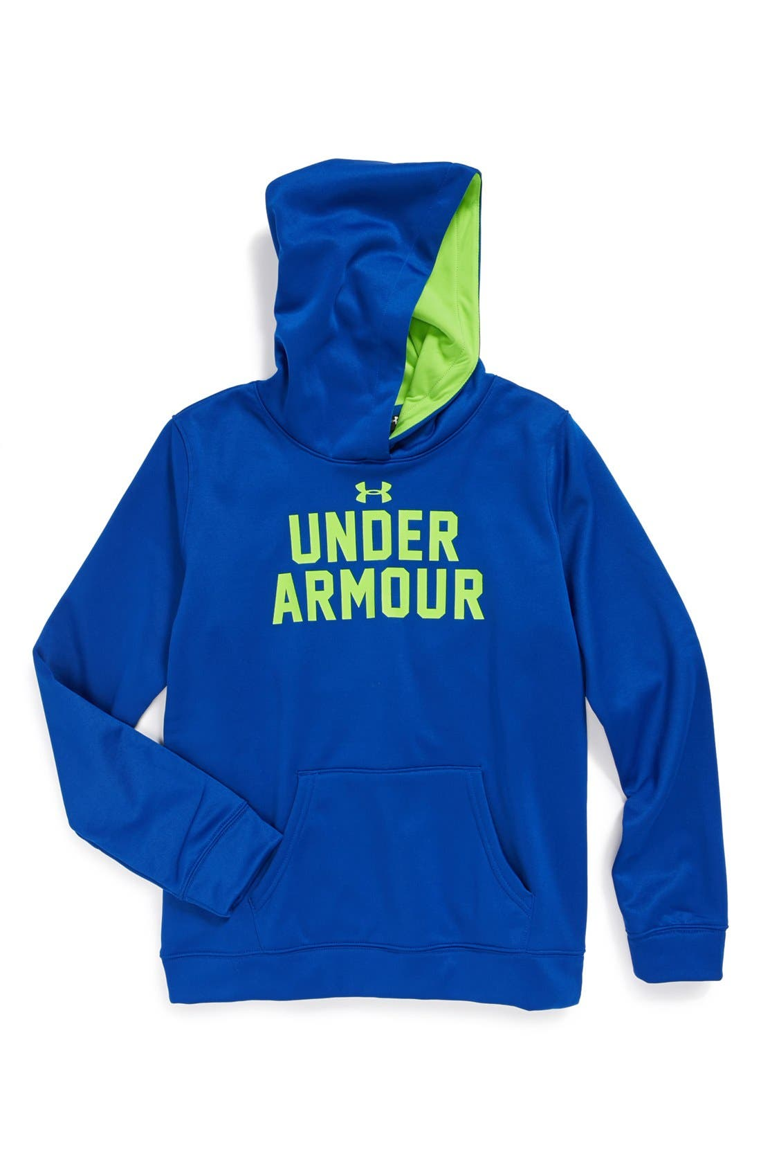 Alternate Image 1 Selected - Under Armour 'Battle' ColdGear® Hoodie (Big Girls)