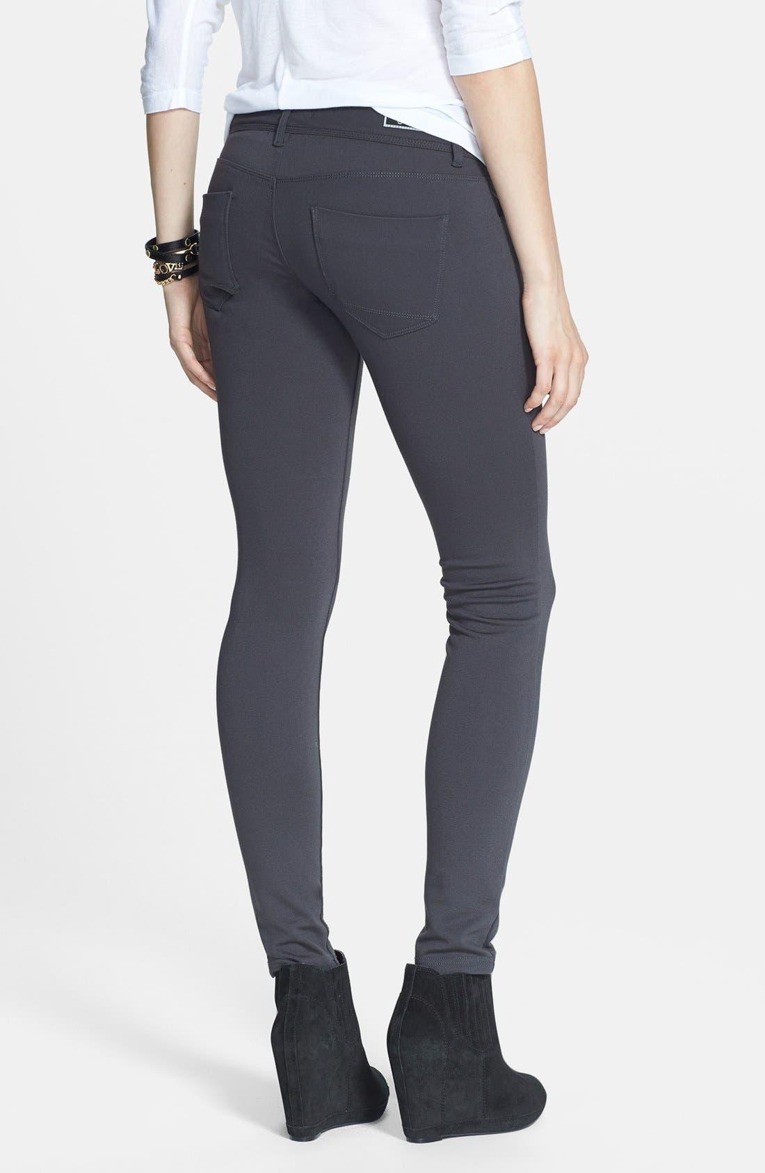 Alternate Image 2  - STS Blue Skinny Ponte Pants (Juniors)