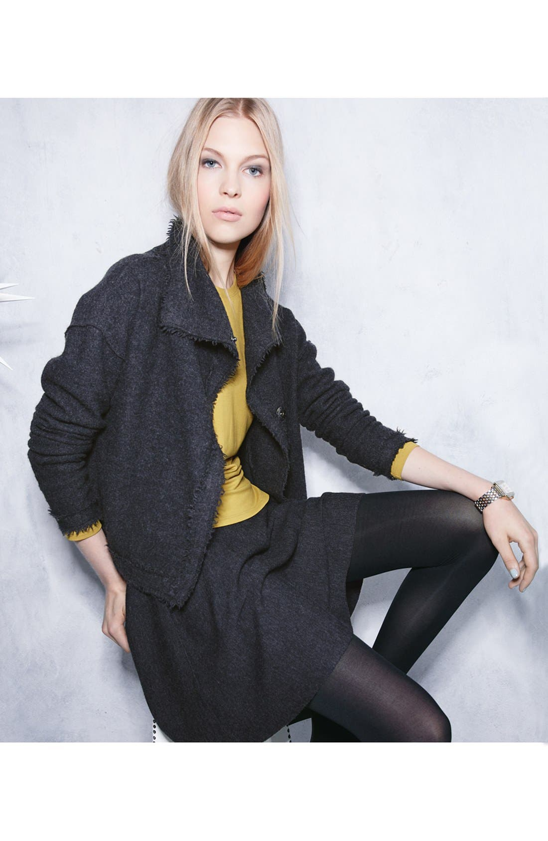 Alternate Image 5  - Eileen Fisher Boiled Wool Jacket