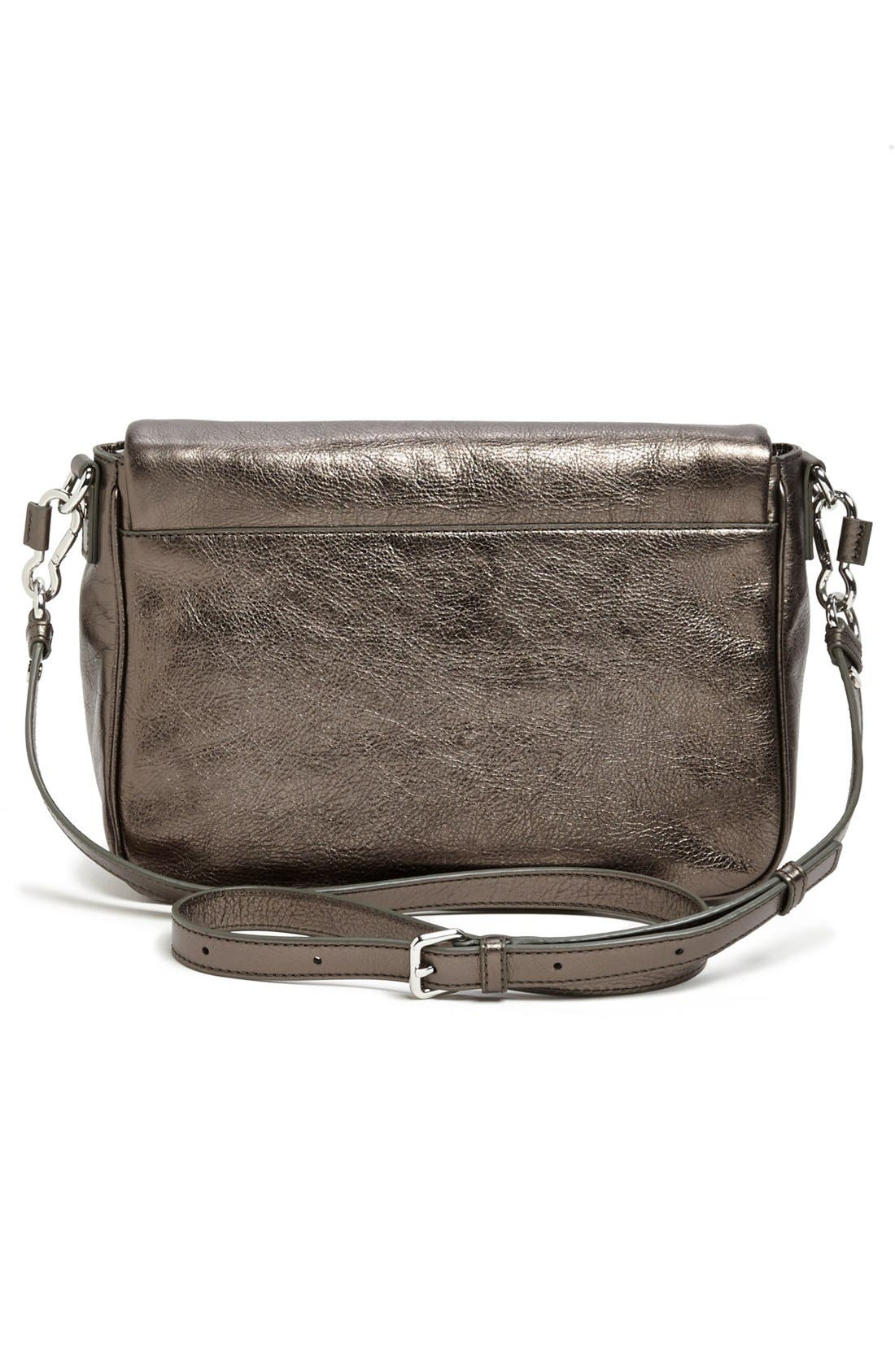 Alternate Image 4  - MARC BY MARC JACOBS 'Too Hot to Handle' Metallic Leather Crossbody Bag