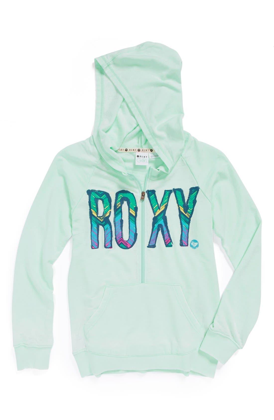 Alternate Image 1 Selected - Roxy 'Secret Message' Half Zip Hoodie (Big Girls)
