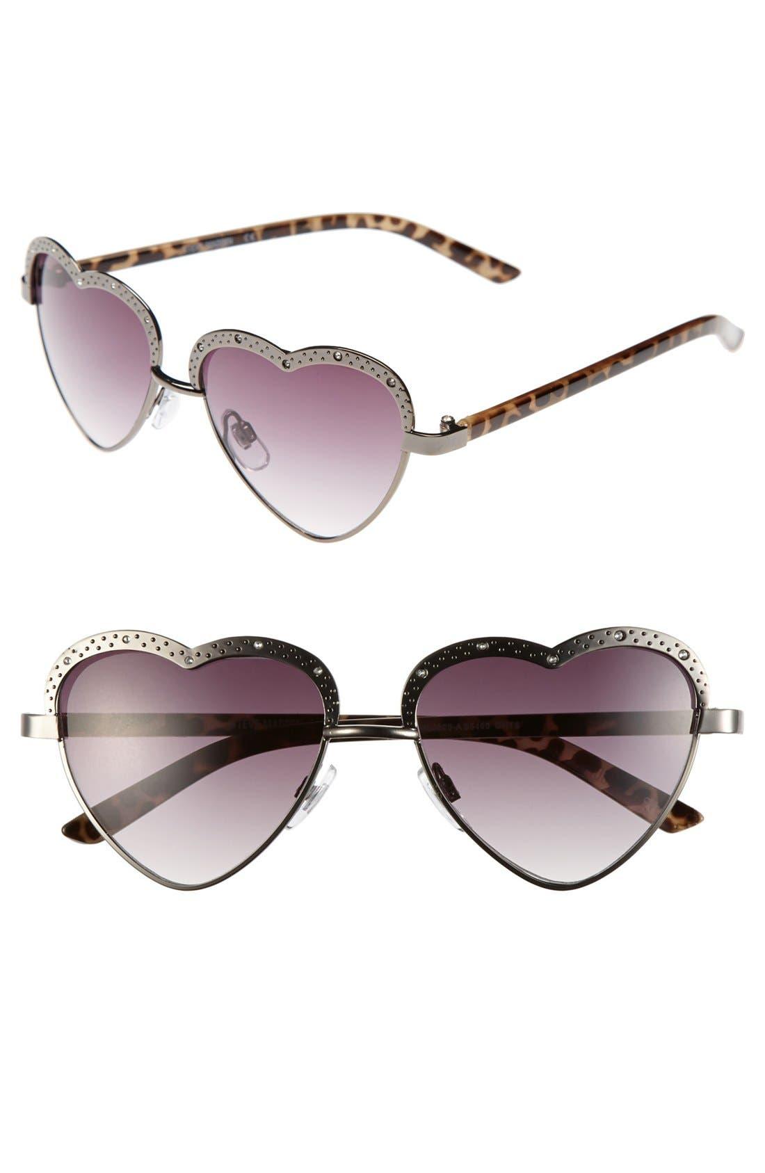 Alternate Image 1 Selected - Steve Madden 'Heart' 53mm Sunglasses