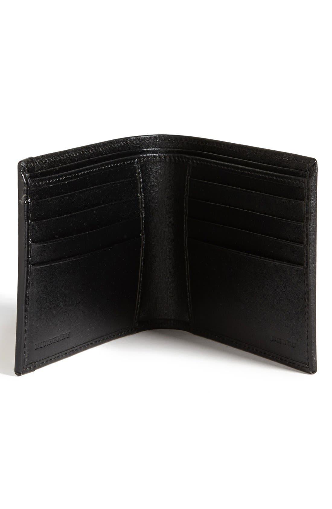 Alternate Image 2  - Burberry Haymarket Check Print Billfold Wallet