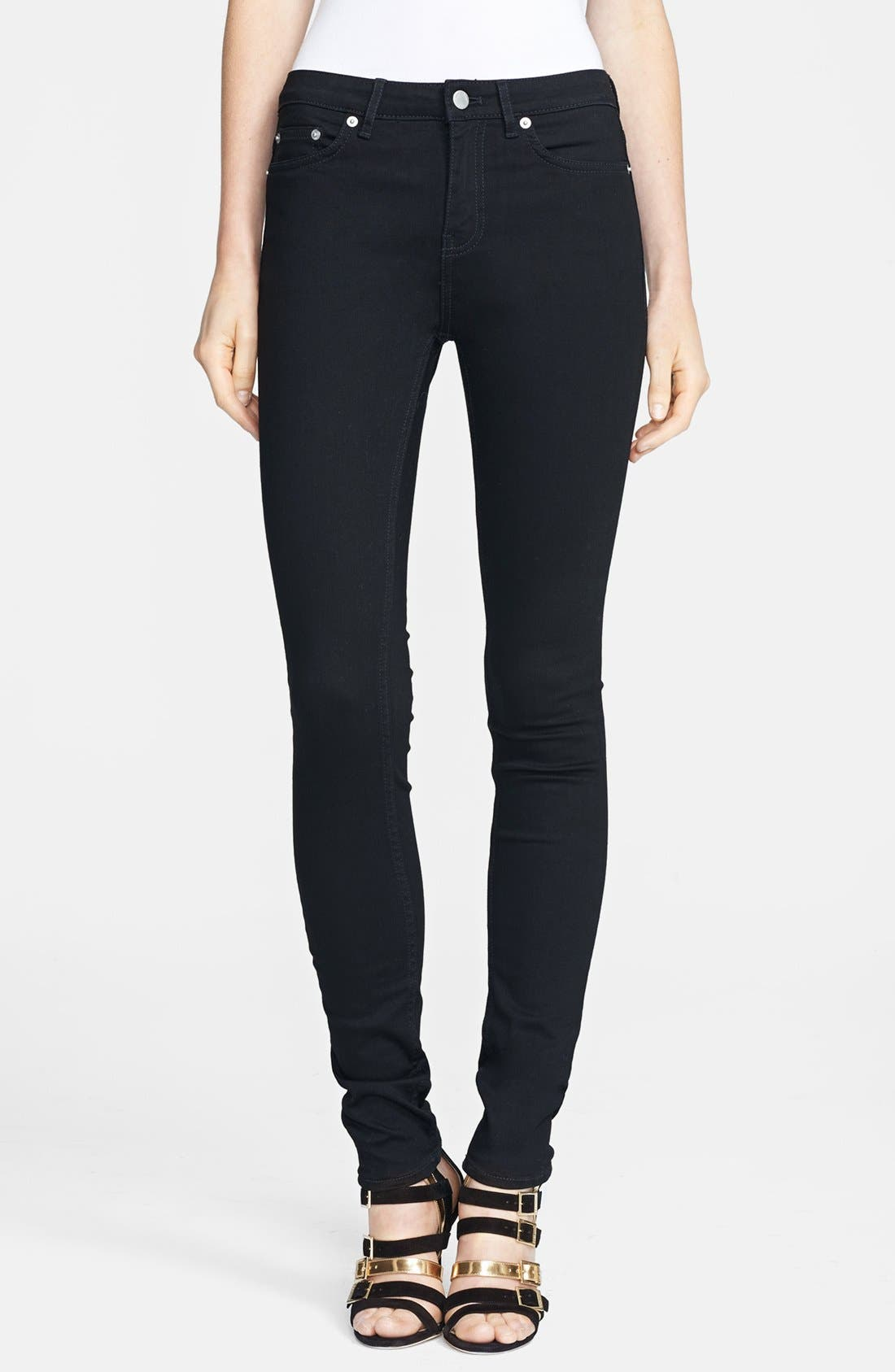 Main Image - BLK DNM Skinny Jeans (Monroe Black)