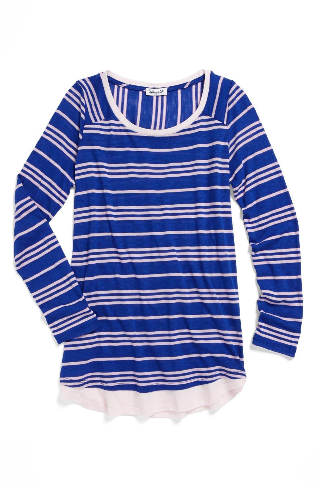 Alternate Image 1 Selected - Splendid Stripe Tunic (Big Girls)