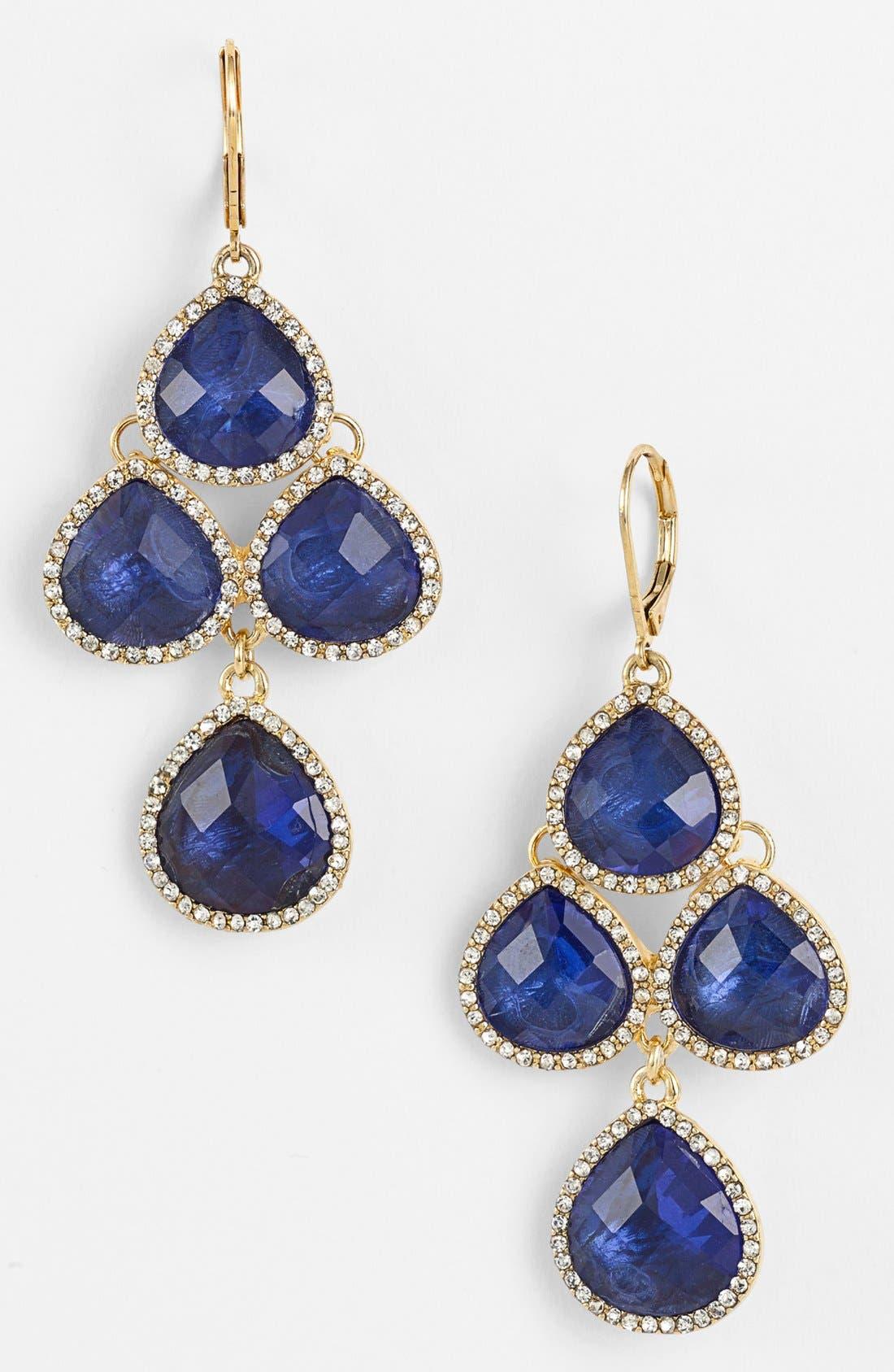 Alternate Image 1 Selected - Anne Klein Stone Chandelier Earrings