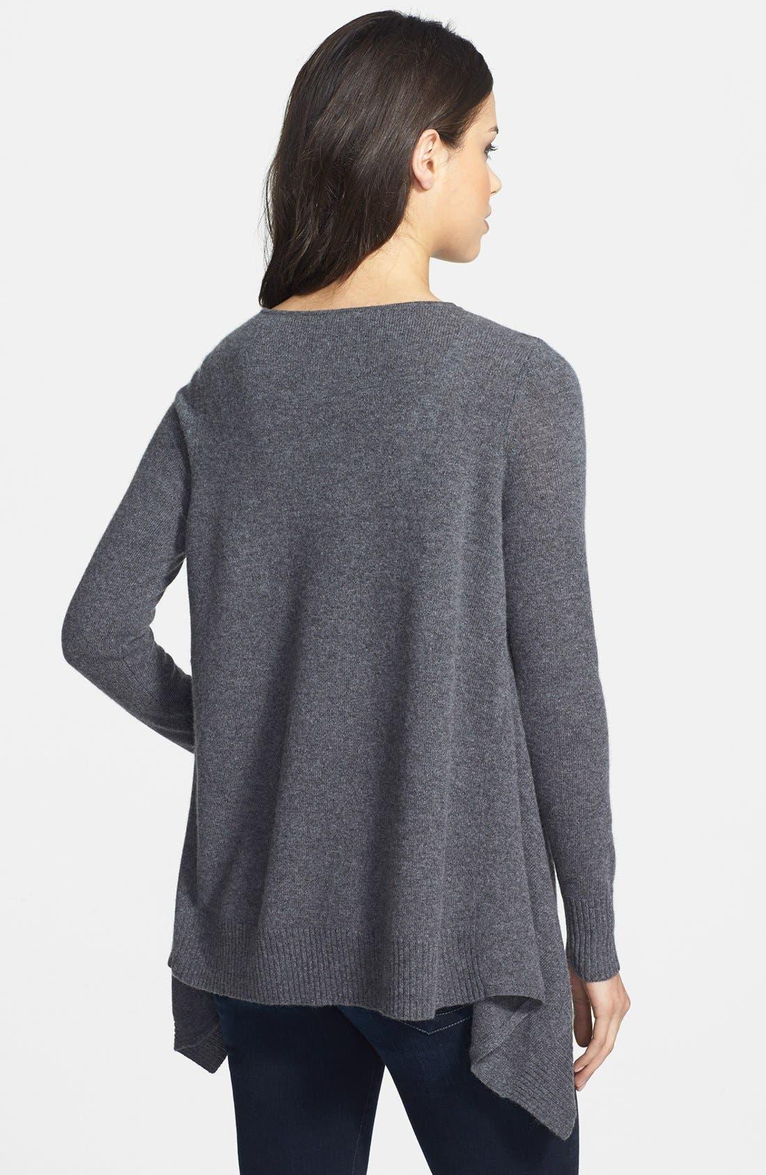 Alternate Image 2  - Halogen® Shark Bite Hem Wool & Cashmere Sweater