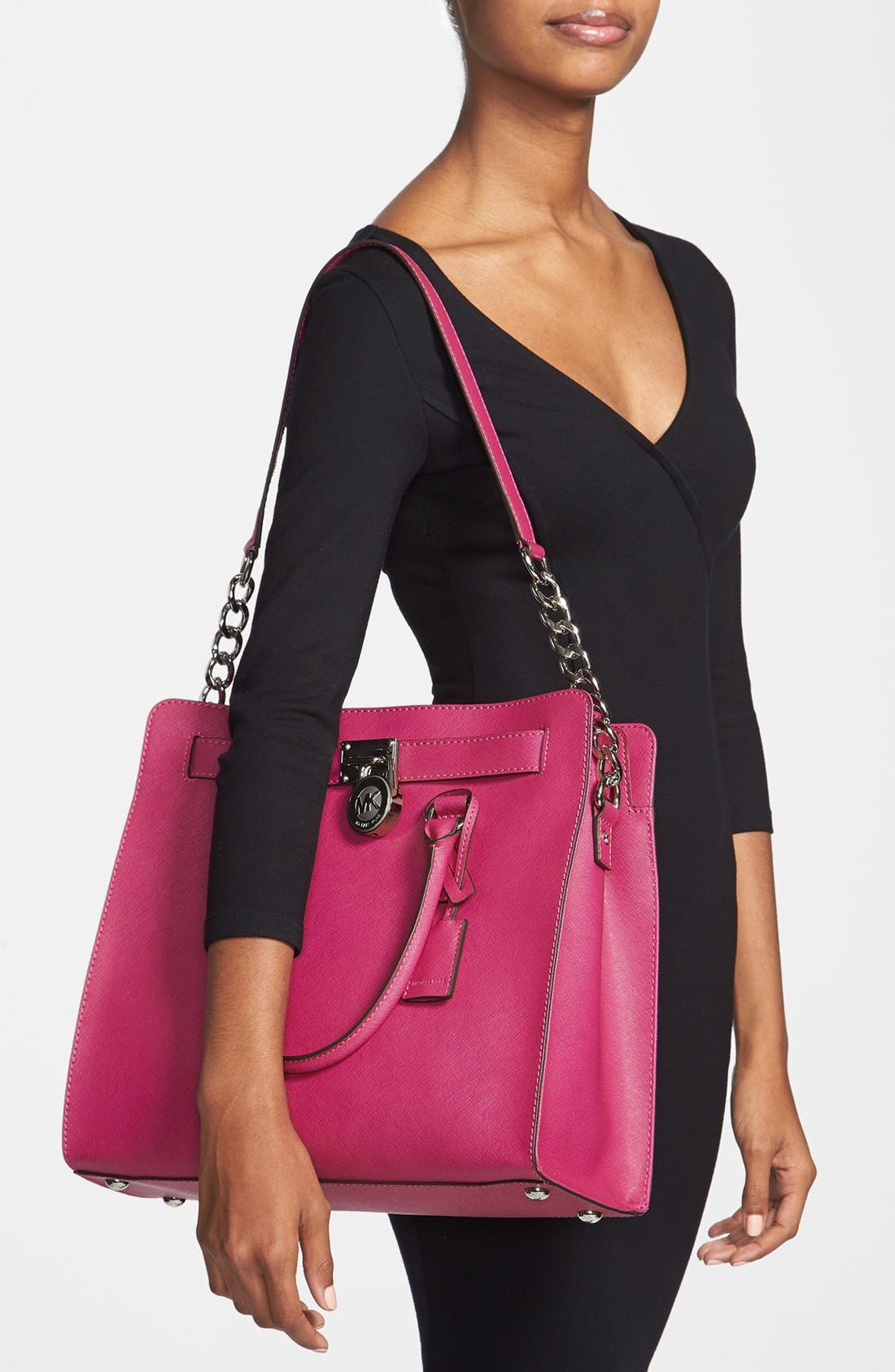 Alternate Image 2  - MICHAEL Michael Kors 'Large Hamilton' Saffiano Leather Tote