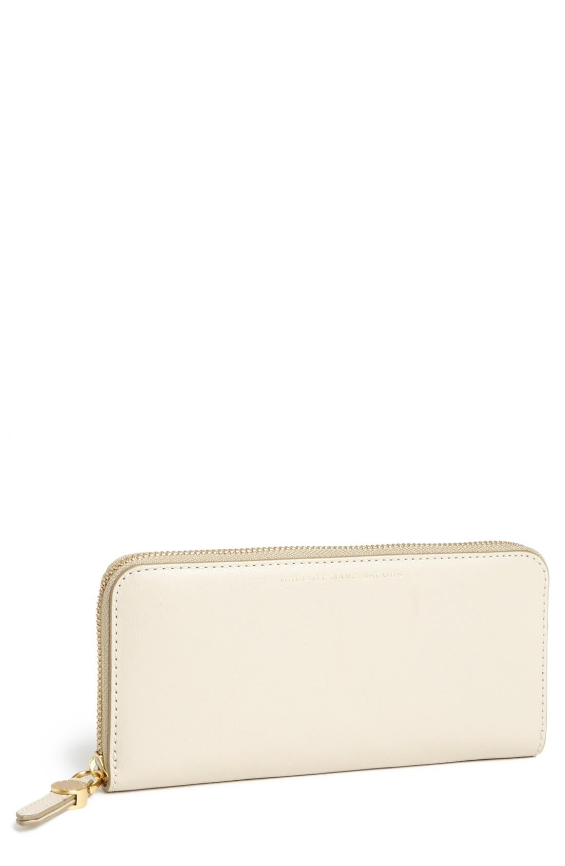 Main Image - MARC BY MARC JACOBS 'Globetrotter' Slim Zip Around Wallet