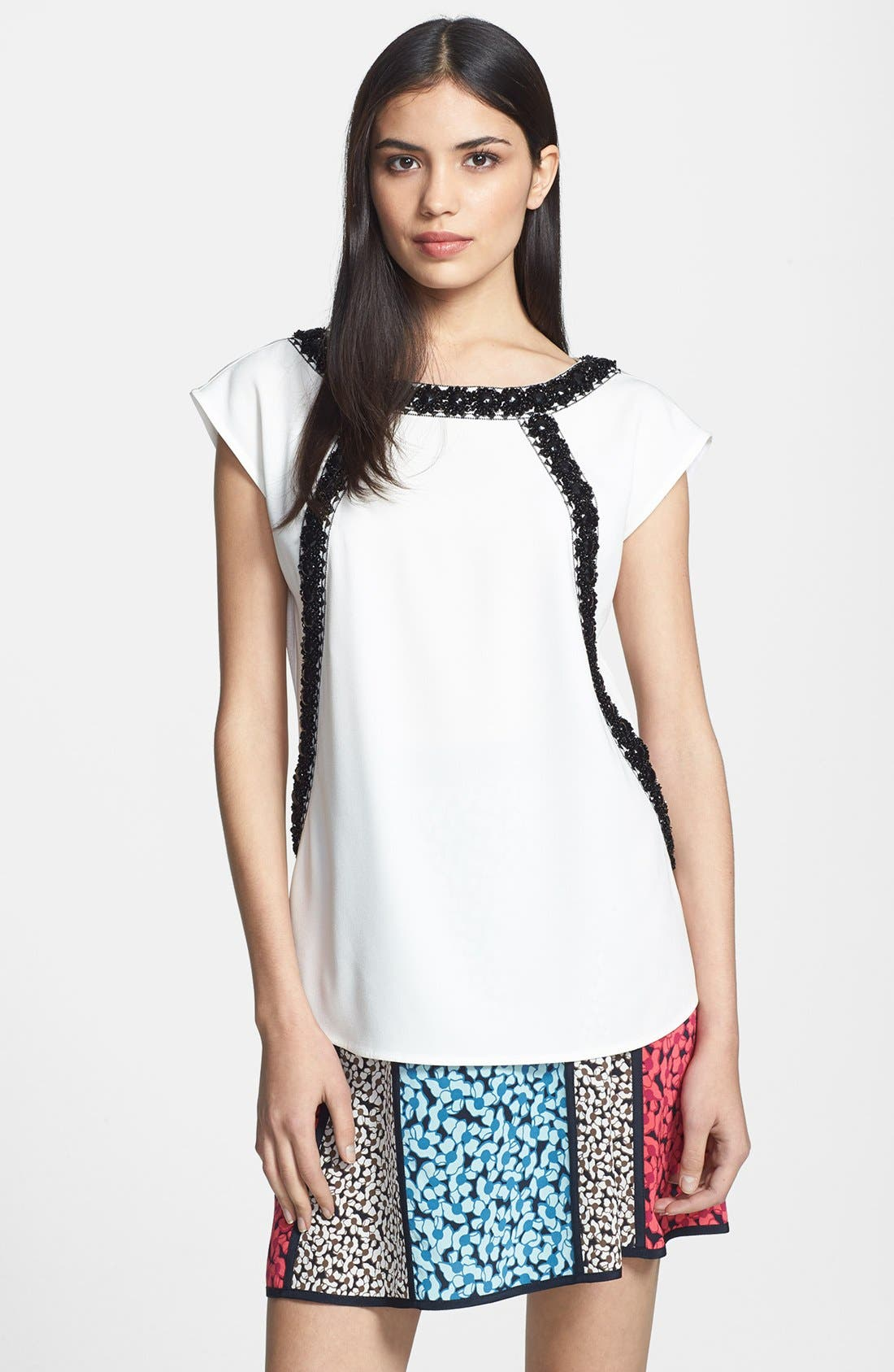 Alternate Image 1 Selected - MARC BY MARC JACOBS 'Kisa' Embroidered Silk Top
