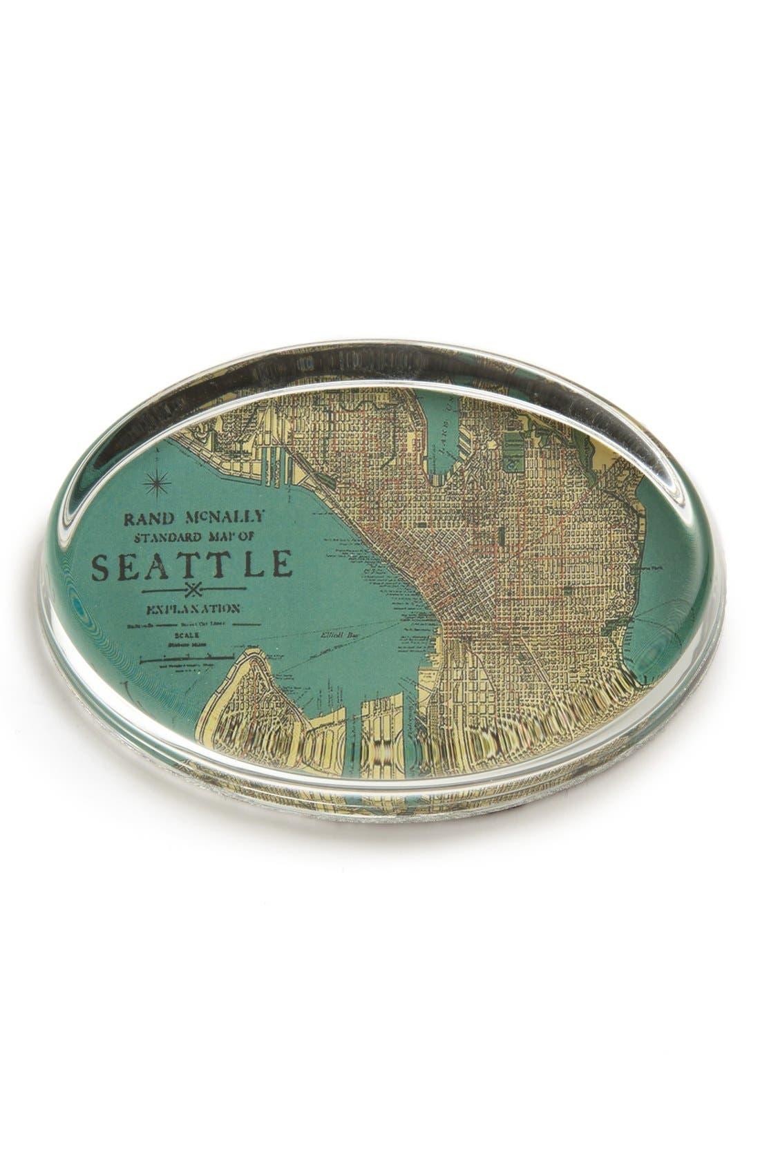 Alternate Image 1 Selected - Ben's Garden 'Antique Seattle Map' Paperweight