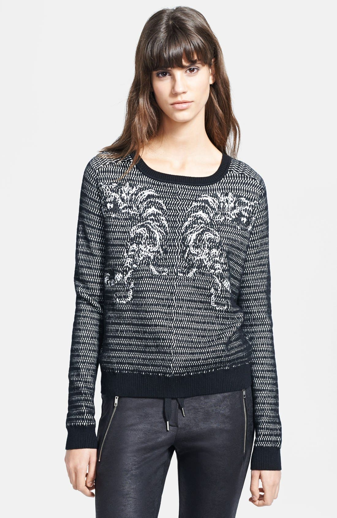 Main Image - The Kooples Tiger Embroidered Sweater