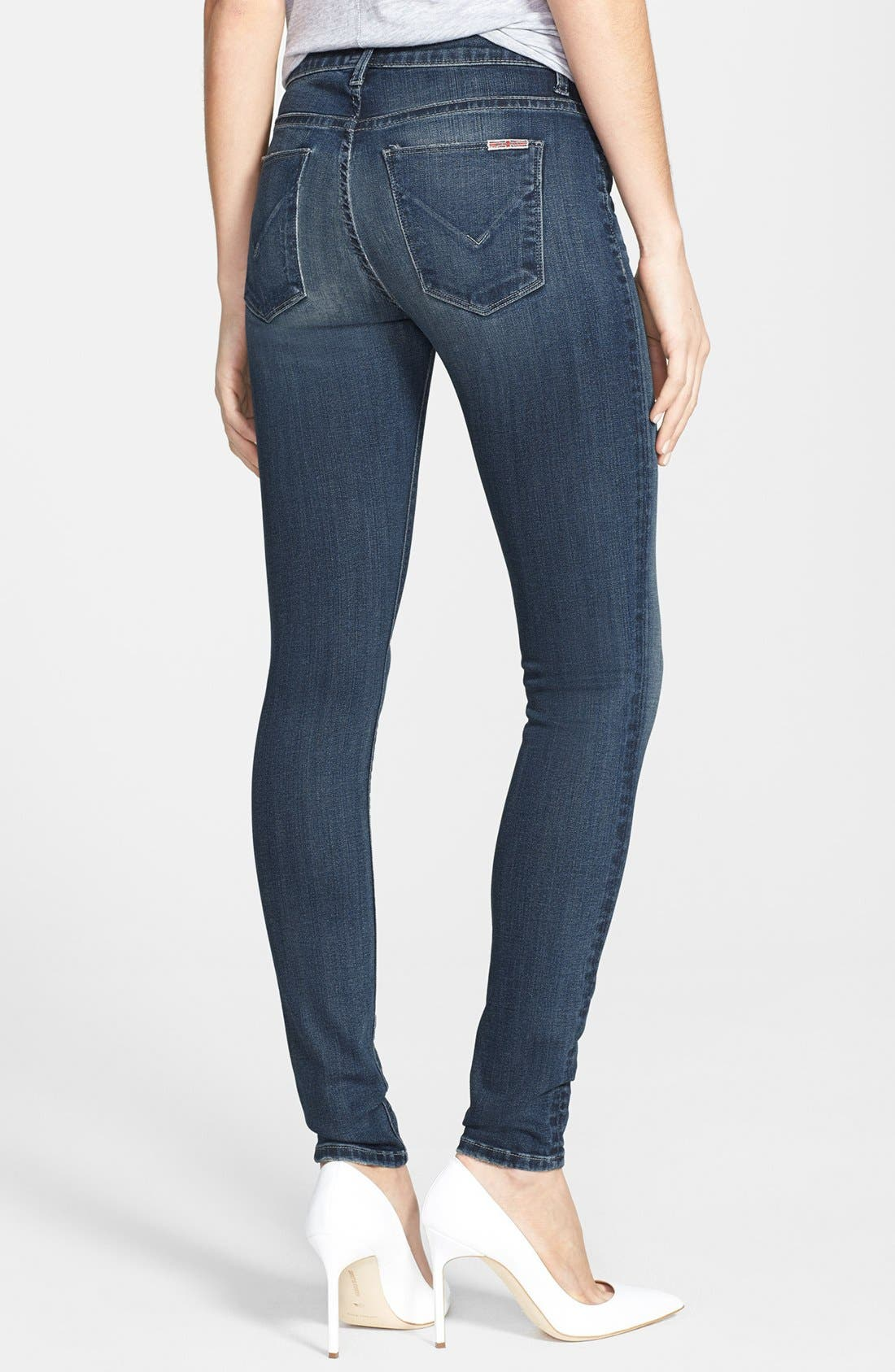 Alternate Image 2  - Hudson Jeans 'Nico' Super Skinny Jeans (Epic Wash)