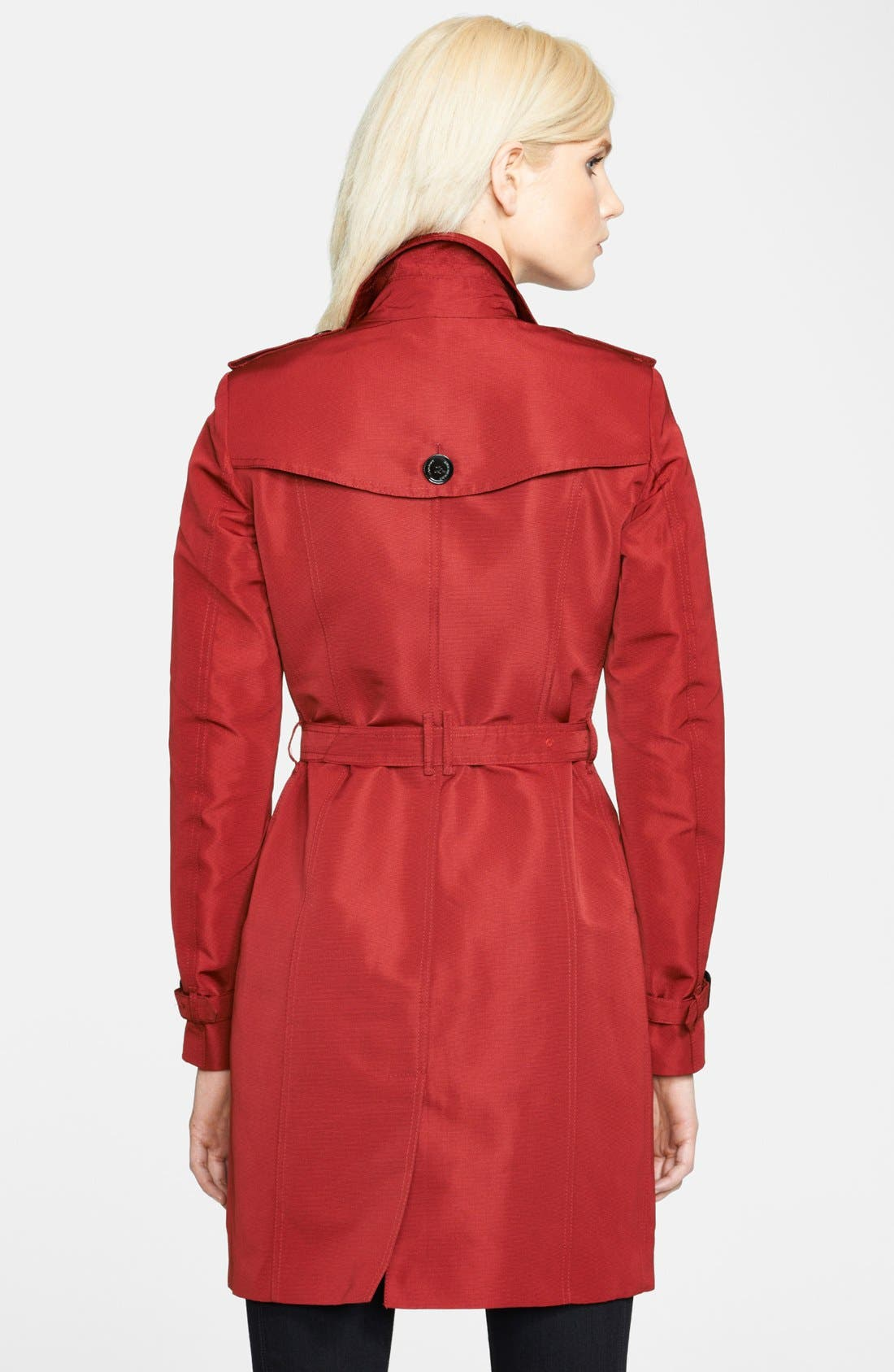 Alternate Image 2  - Burberry London Belted Double Breasted Trench Coat