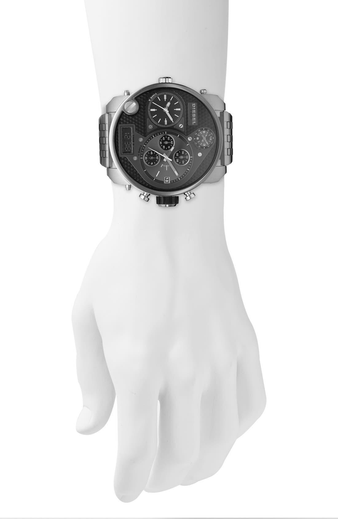 Alternate Image 2  - DIESEL® 'Mr. Daddy' Bracelet Watch, 58mm