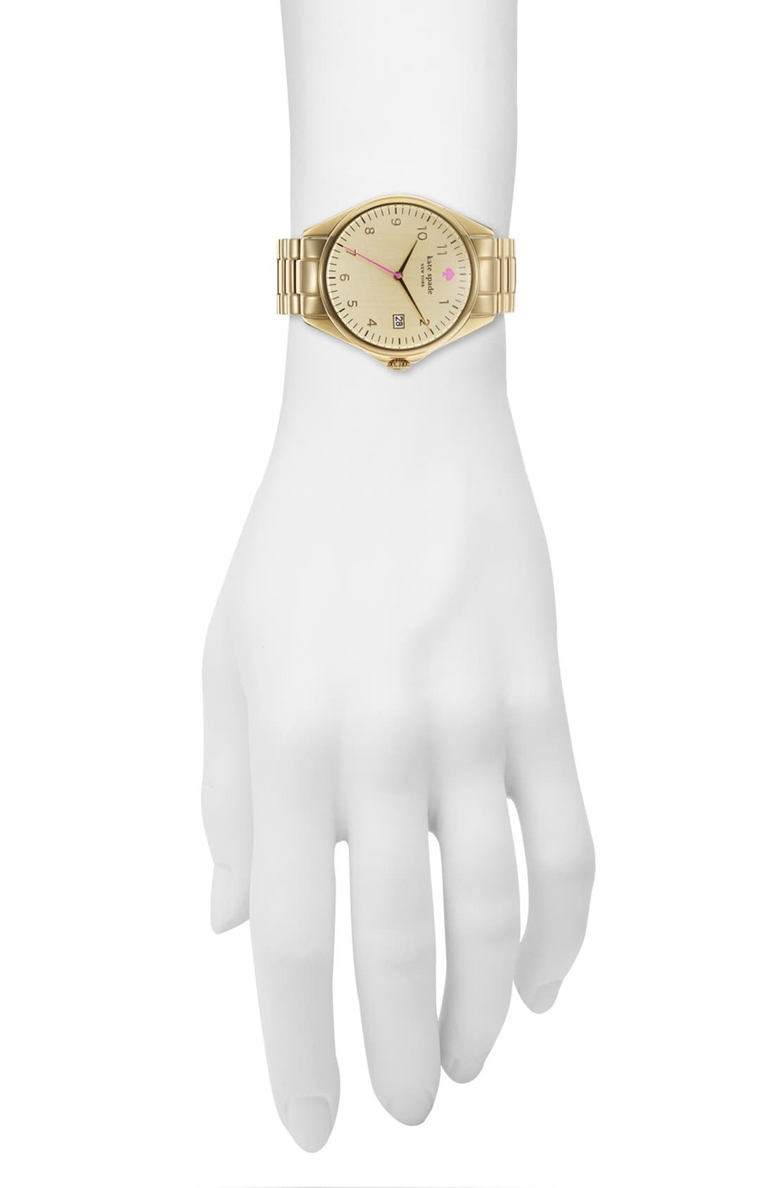 Alternate Image 4  - kate spade new york 'seaport grand' bracelet watch, 38mm