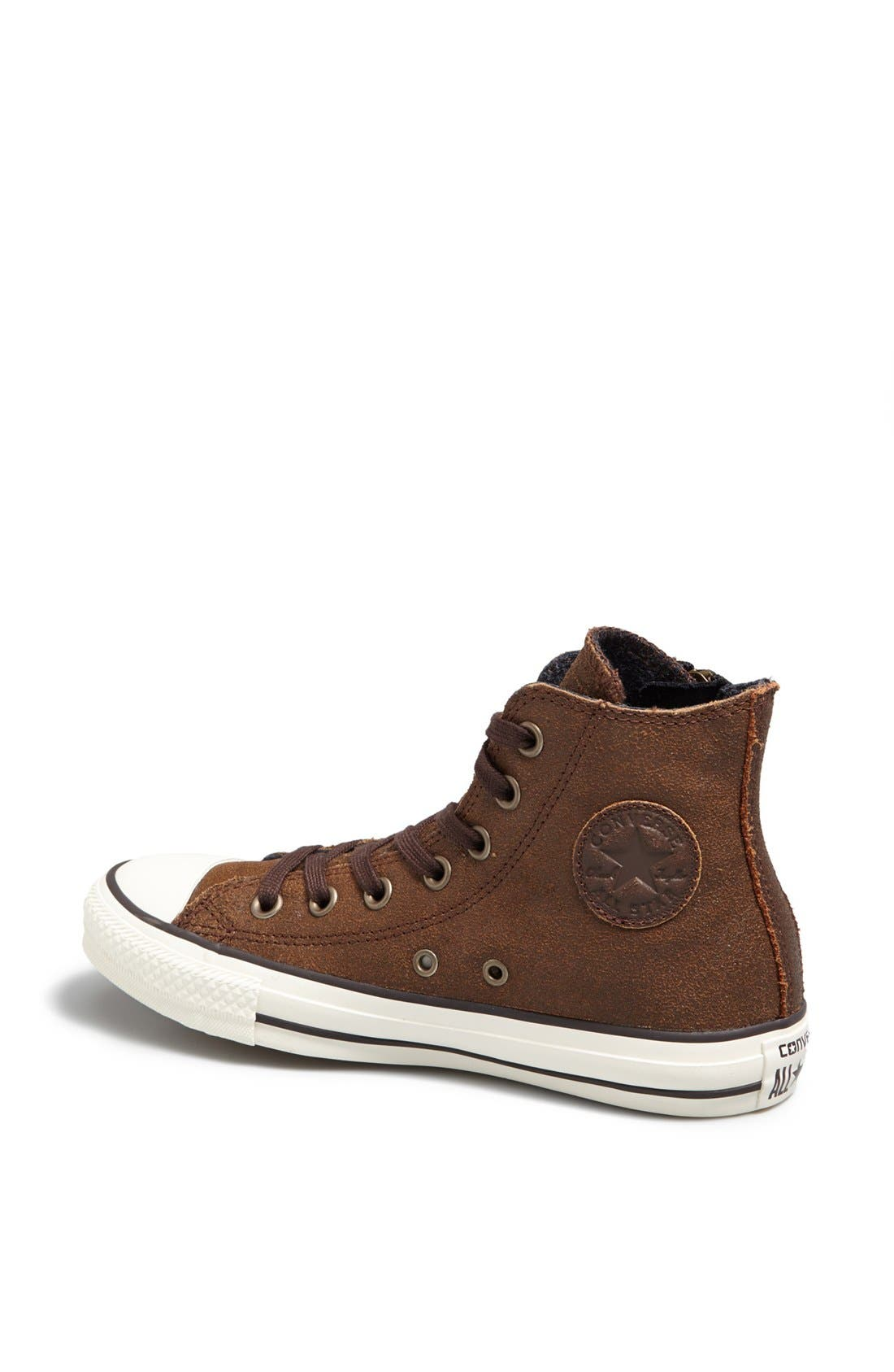 Alternate Image 2  - Converse Chuck Taylor® 'Aviator' Side Zip Leather High Top Sneaker (Women)