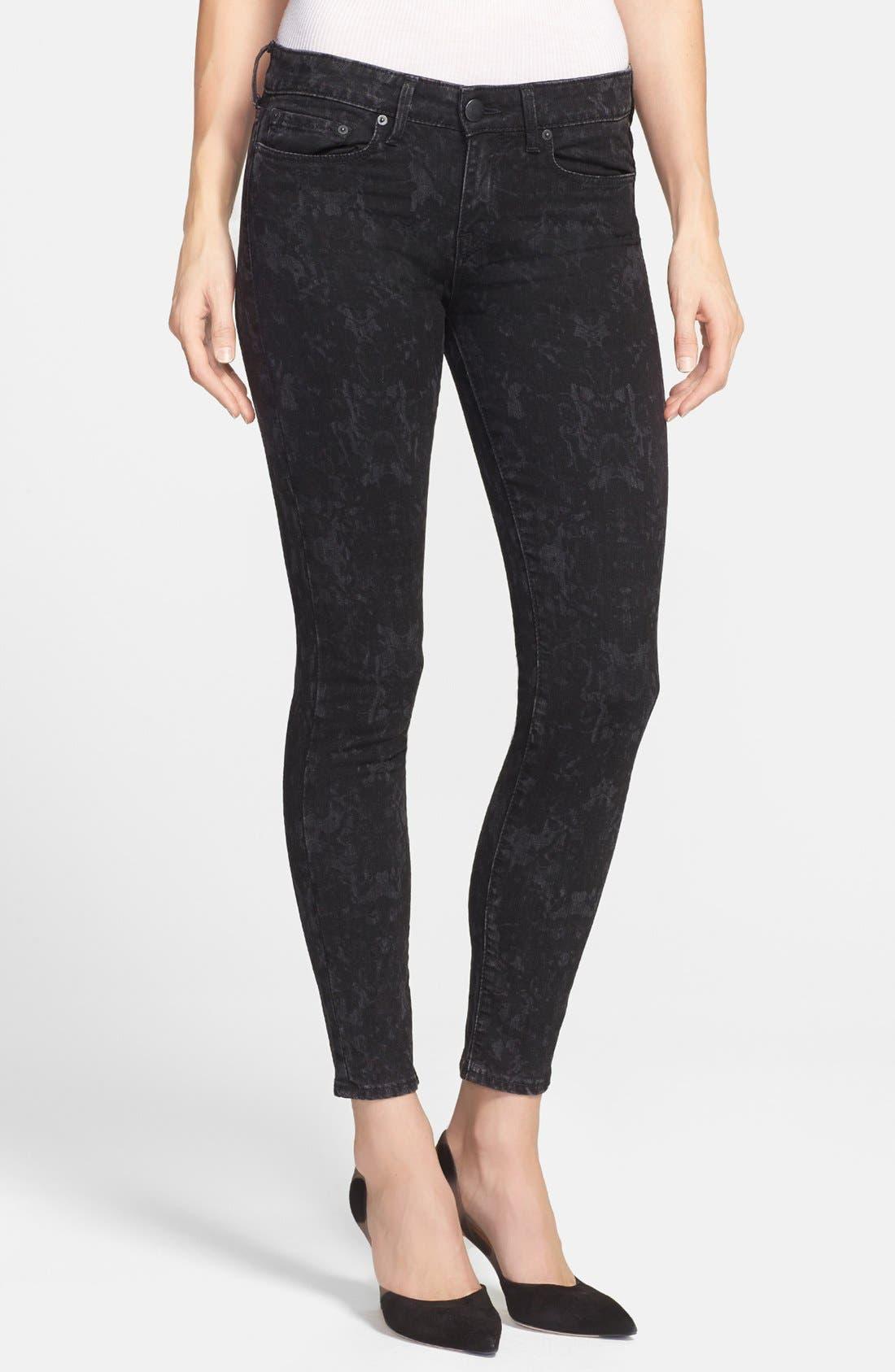 Alternate Image 1 Selected - Vince 'Dylan' Ankle Skinny Jeans (Black Floral)