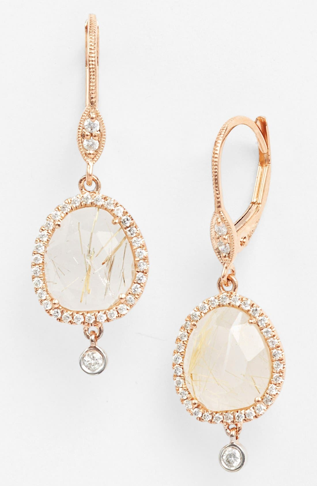 Alternate Image 1 Selected - MeiraT 'Rough Cut' Stone Drop Earrings