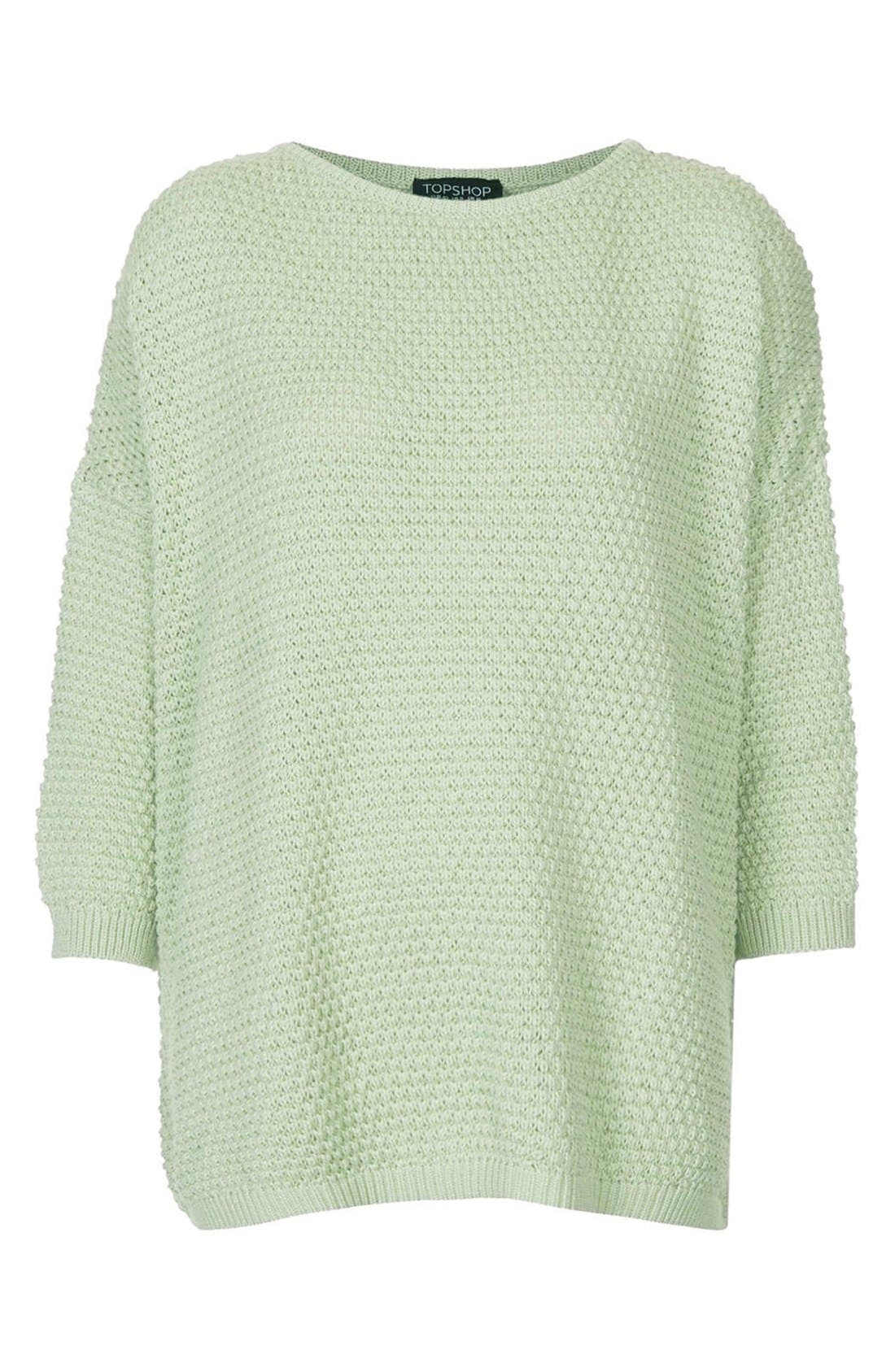 Alternate Image 3  - Topshop Tulip Stitch Sweater
