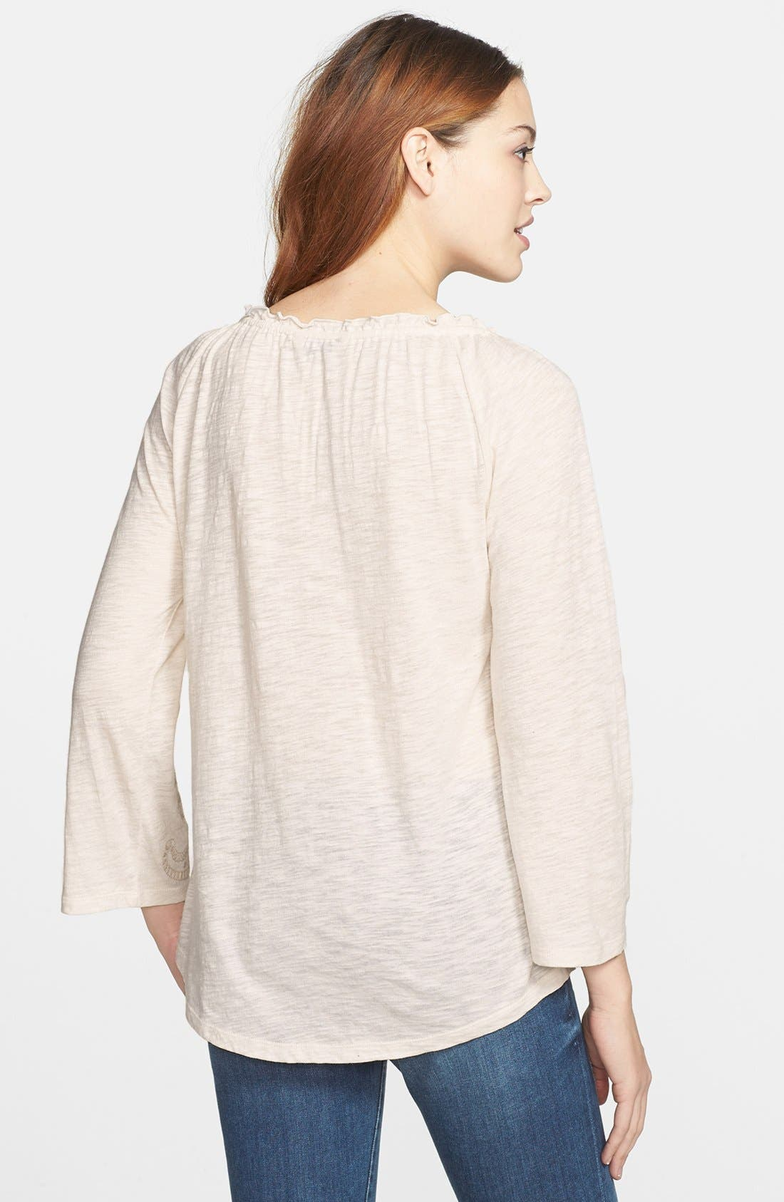 Alternate Image 2  - Lucky Brand Paisley Embroidered Top