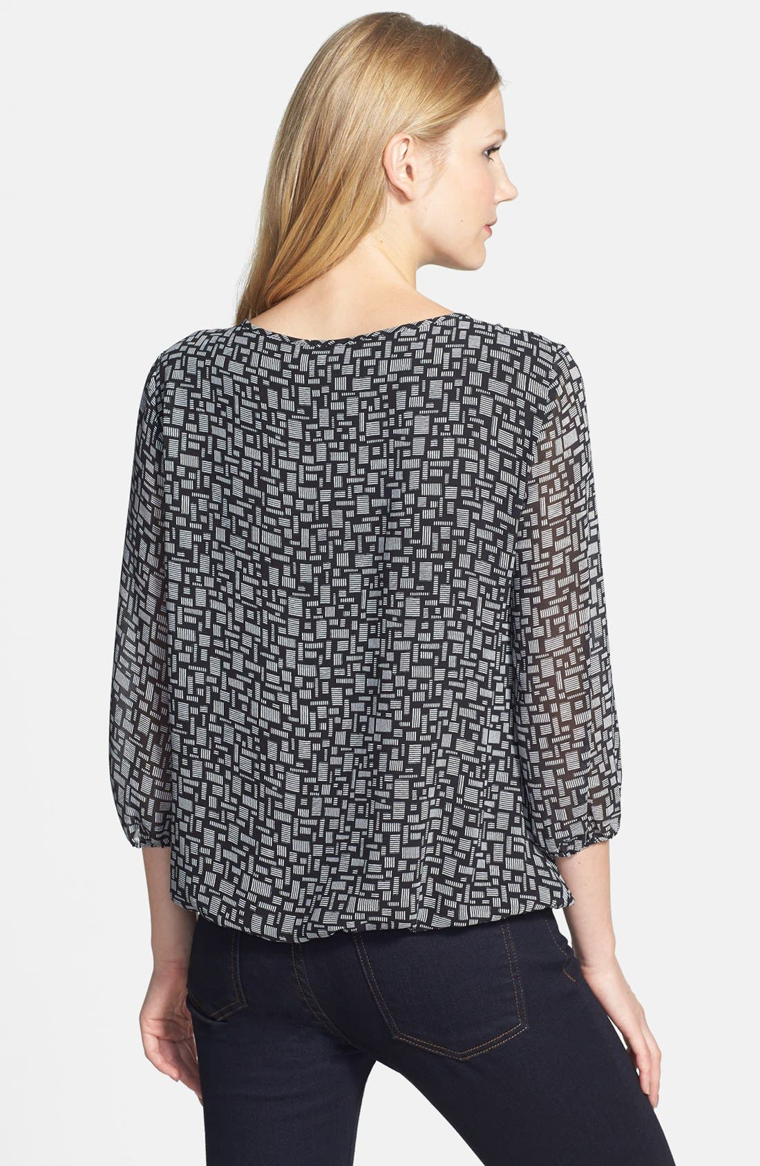 Alternate Image 2  - Vince Camuto 'Blurred Touches' Faux Wrap Blouse