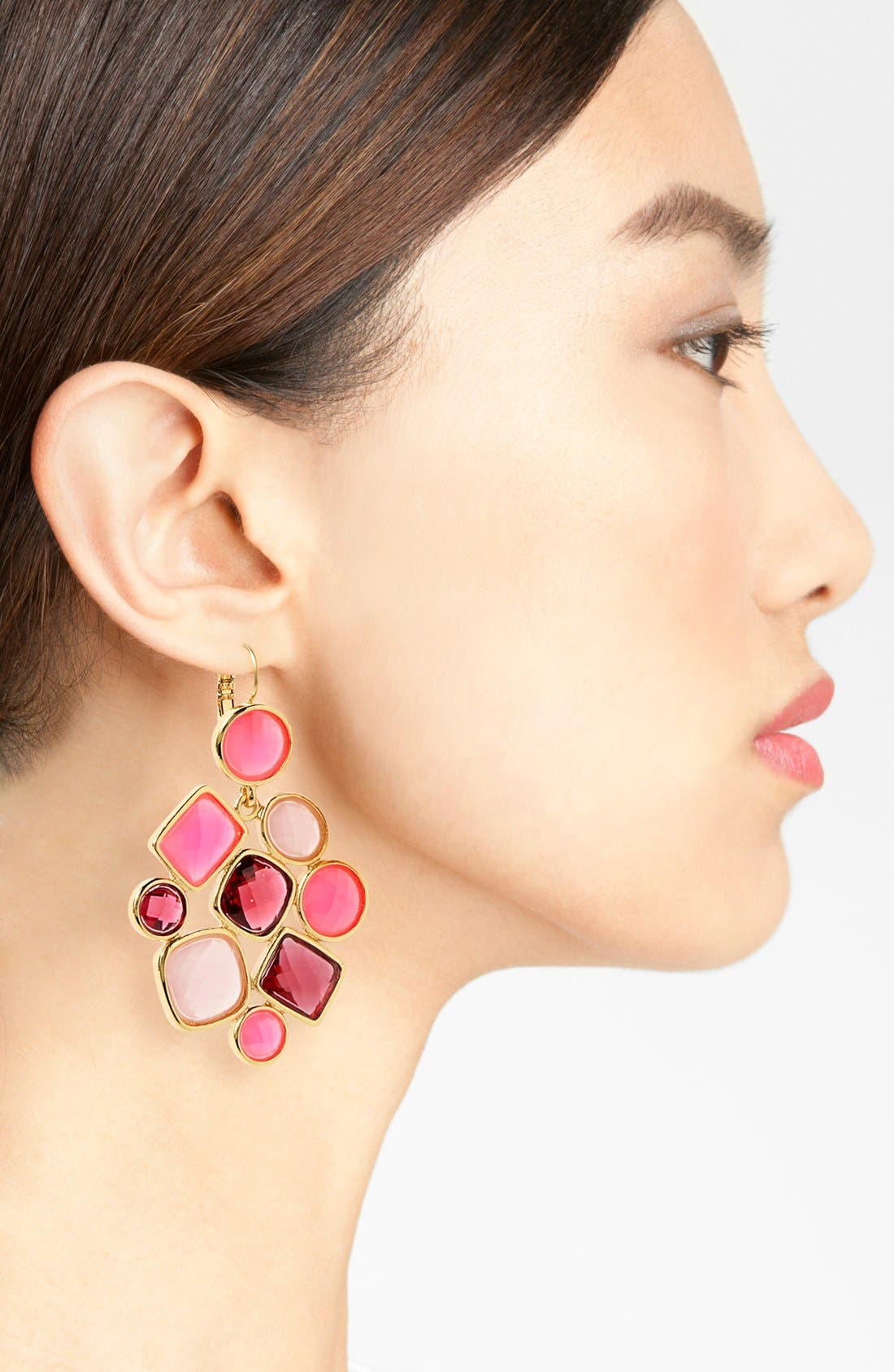Alternate Image 2  - kate spade new york 'microfacet' stone cluster chandelier earrings (Special Purchase)