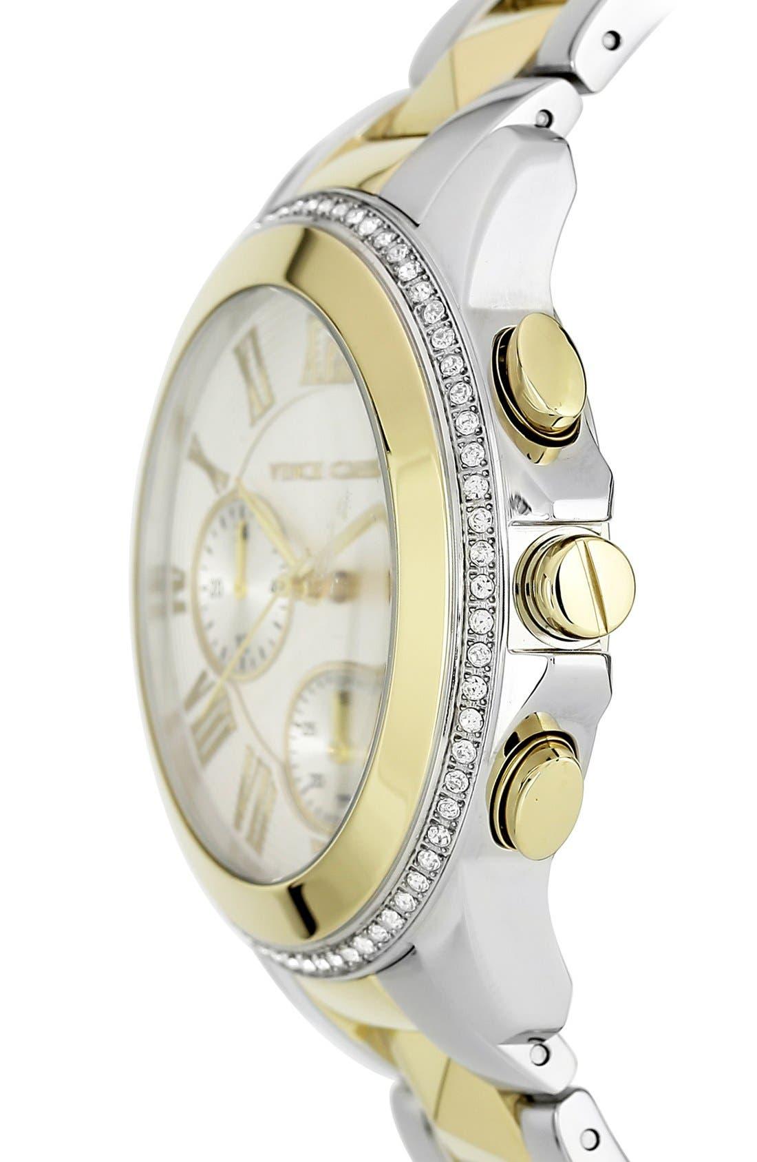 Alternate Image 3  - Vince Camuto Multifunction Pyramid Bracelet Watch, 42mm